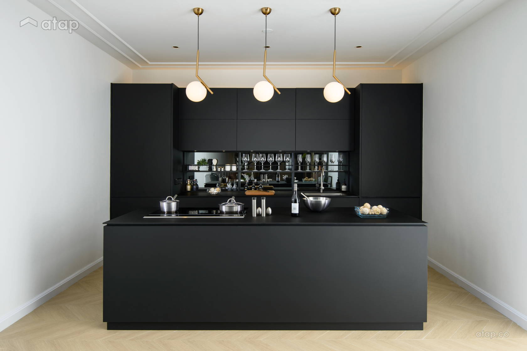 Contemporary Minimalistic Kitchen @ The Irrawaddy House