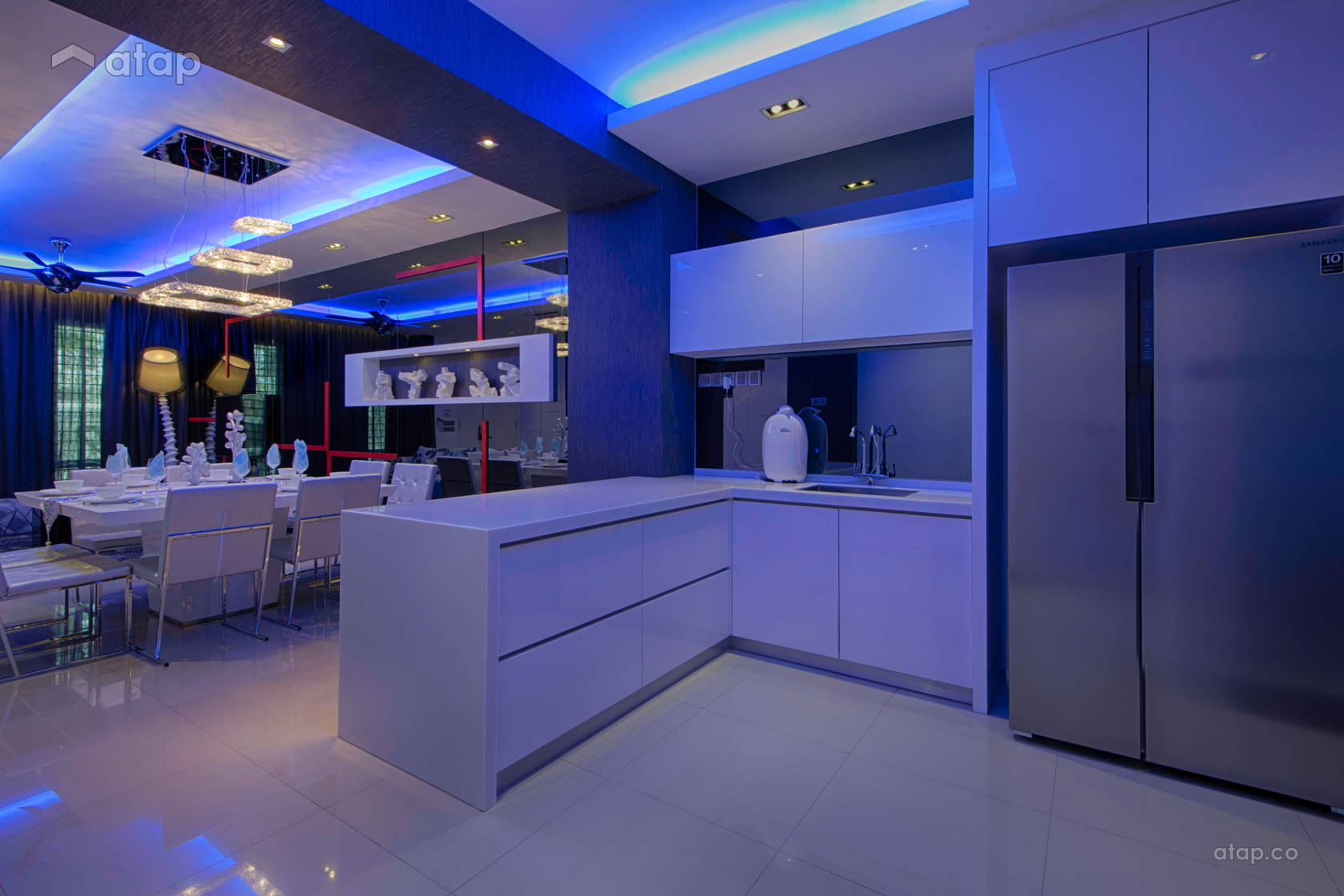 "Contemporary Modern Kitchen @ ""For Avant-Garde Lovers"" @ Setia Alam, Shah Alam"