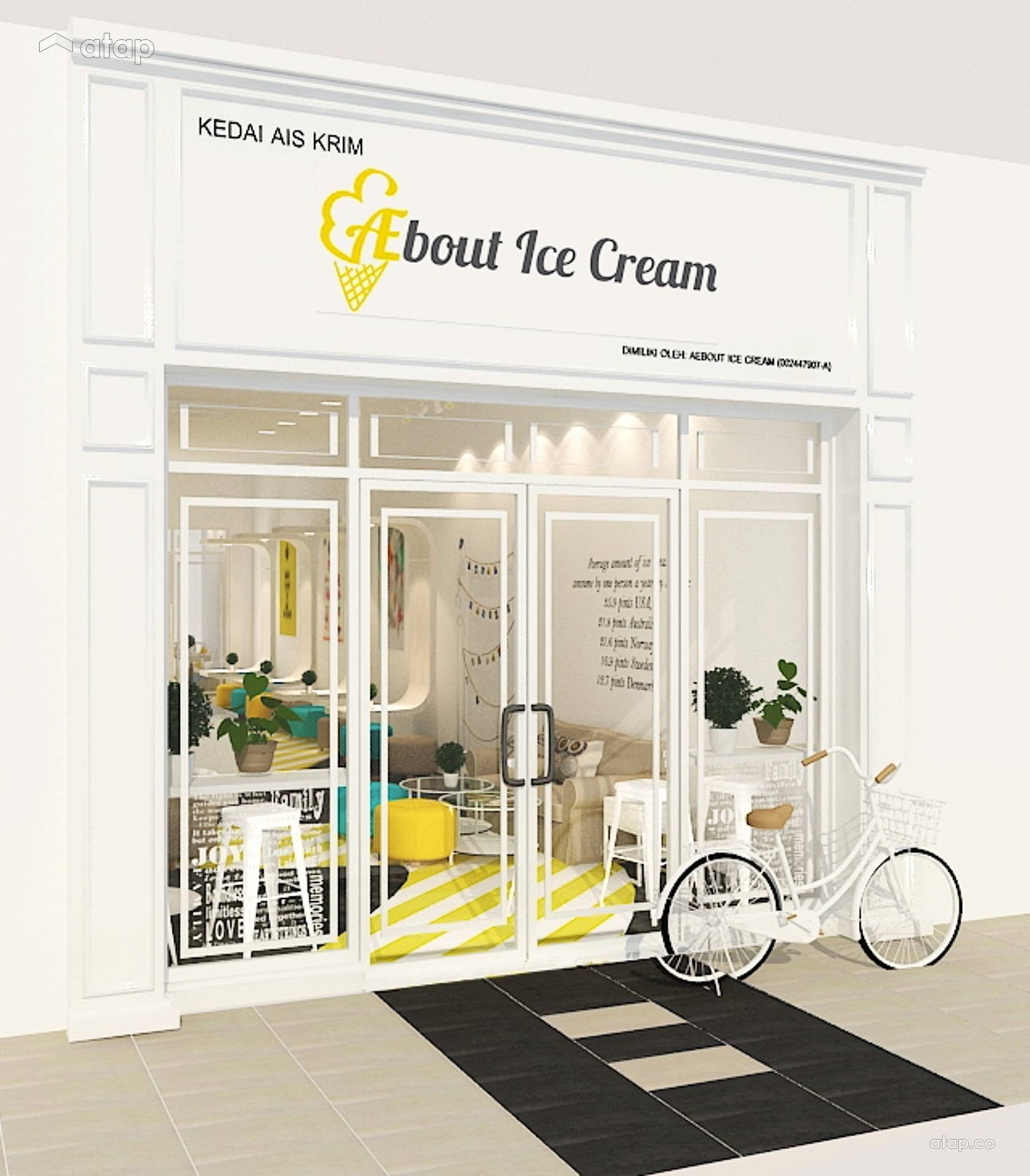Aebout Ice Cream Shop Interior Design Renovation Ideas Photos And