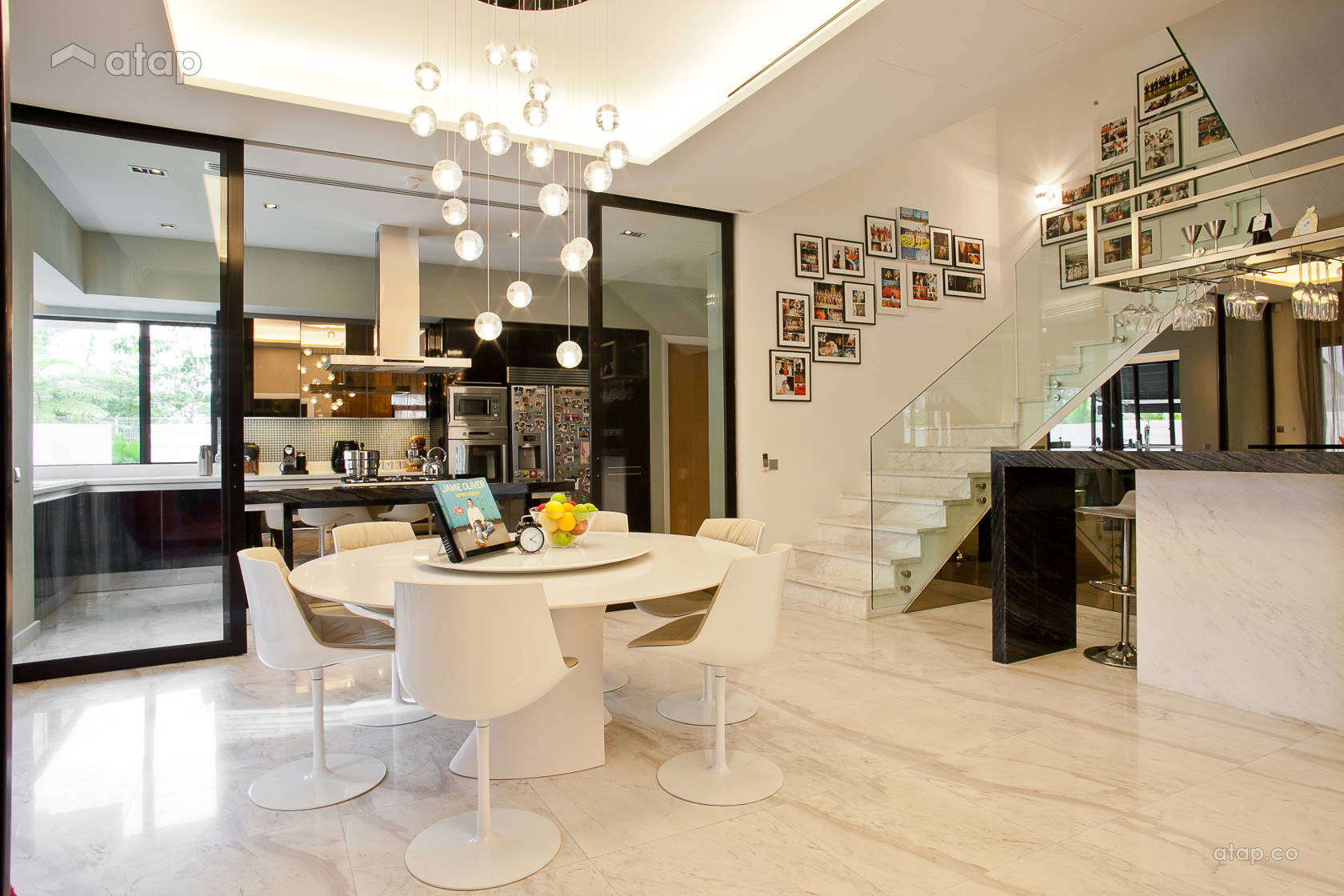 Contemporary Modern Dining Room Kitchen Semi Detached Design Ideas Photos Malaysia Atap Co