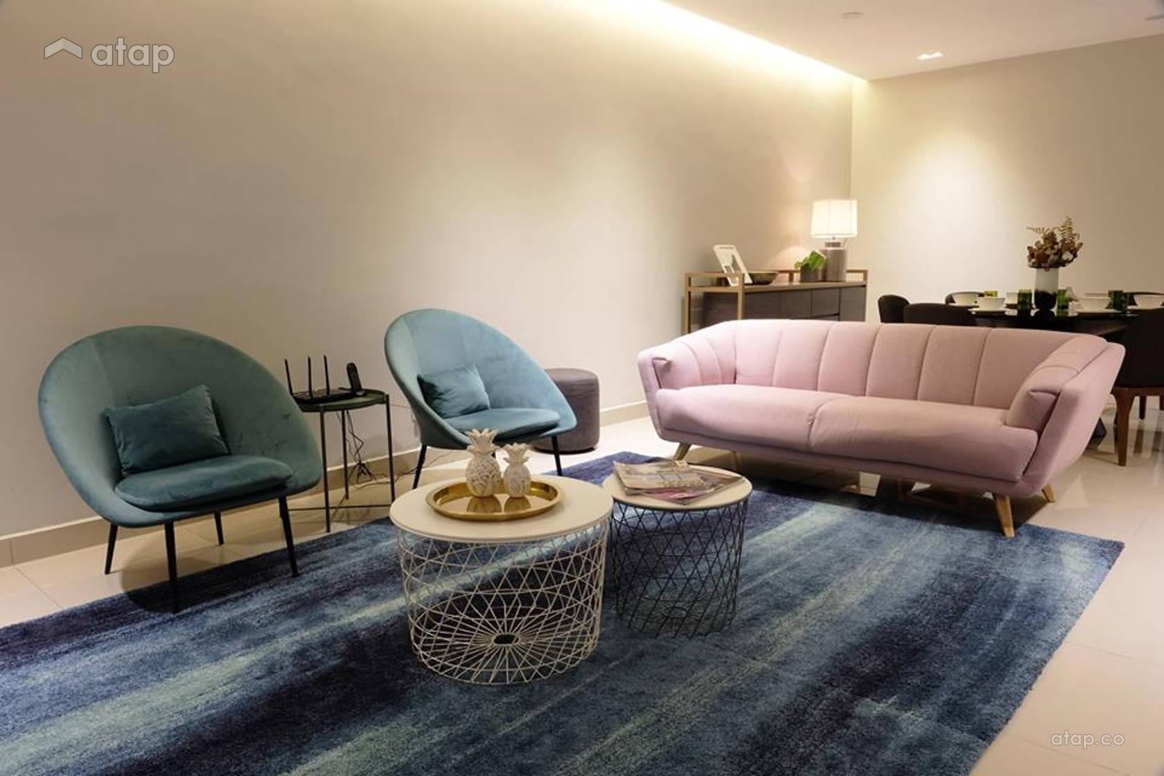 Modern Scandinavian Dining Room Living Room @ A. RESIDENCE