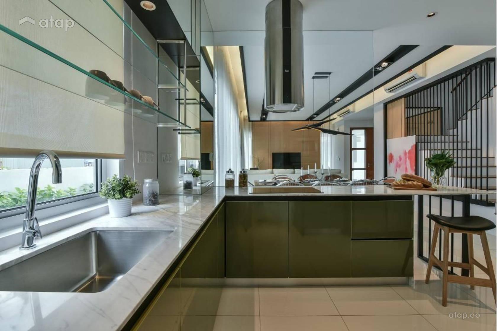 Contemporary Modern Kitchen Terrace Design Ideas Photos Malaysia Atap Co