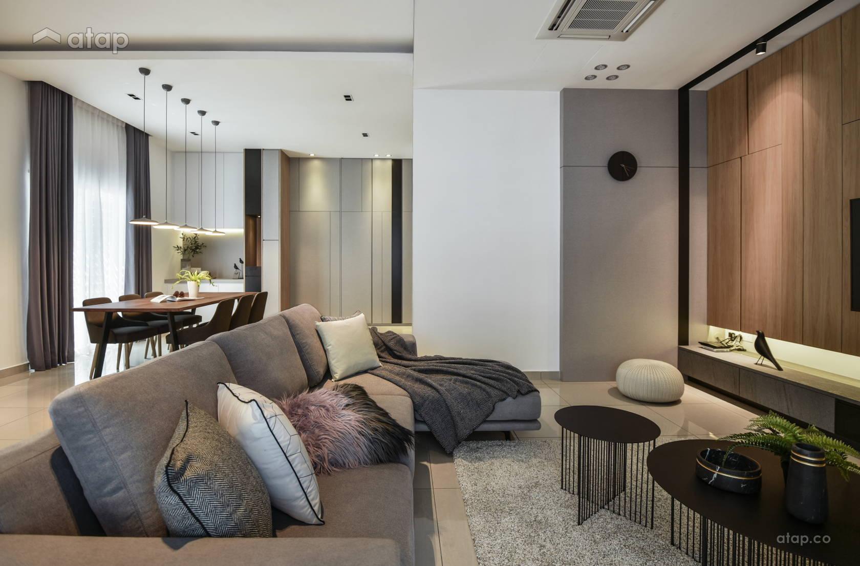 Contemporary Modern Living Room @ The perfect crush- Semi-D, Perak