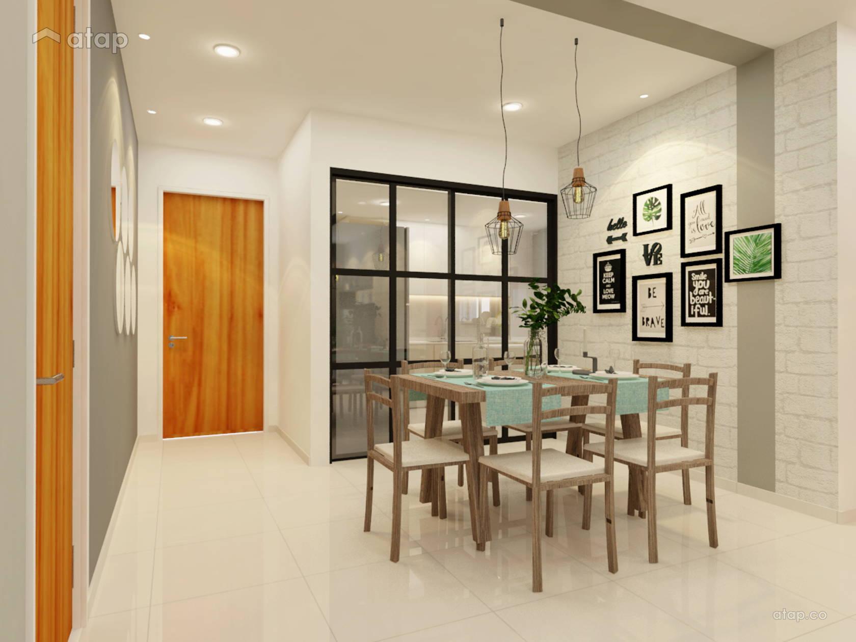Asian Modern Dining Room Kitchen Condominium Design Ideas Photos Malaysia Atap Co