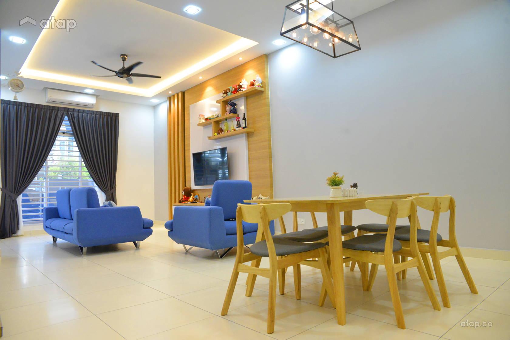 Minimalistic Living Room @ Austin Residence, Mount Austin Johor Bahru