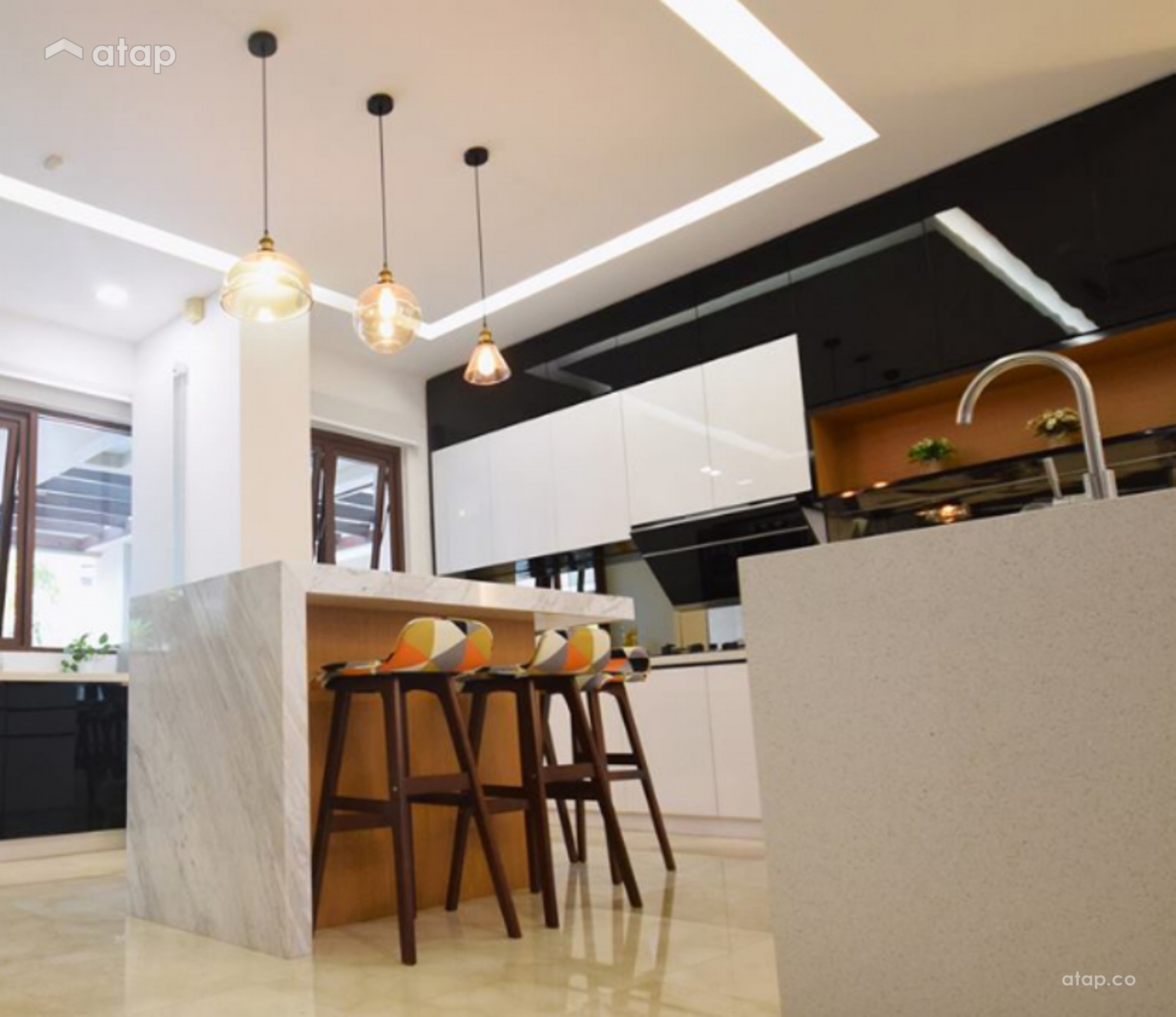 Contemporary Modern Kitchen Semi Detached Design Ideas: Contemporary Modern Dining Room Kitchen Semi-detached