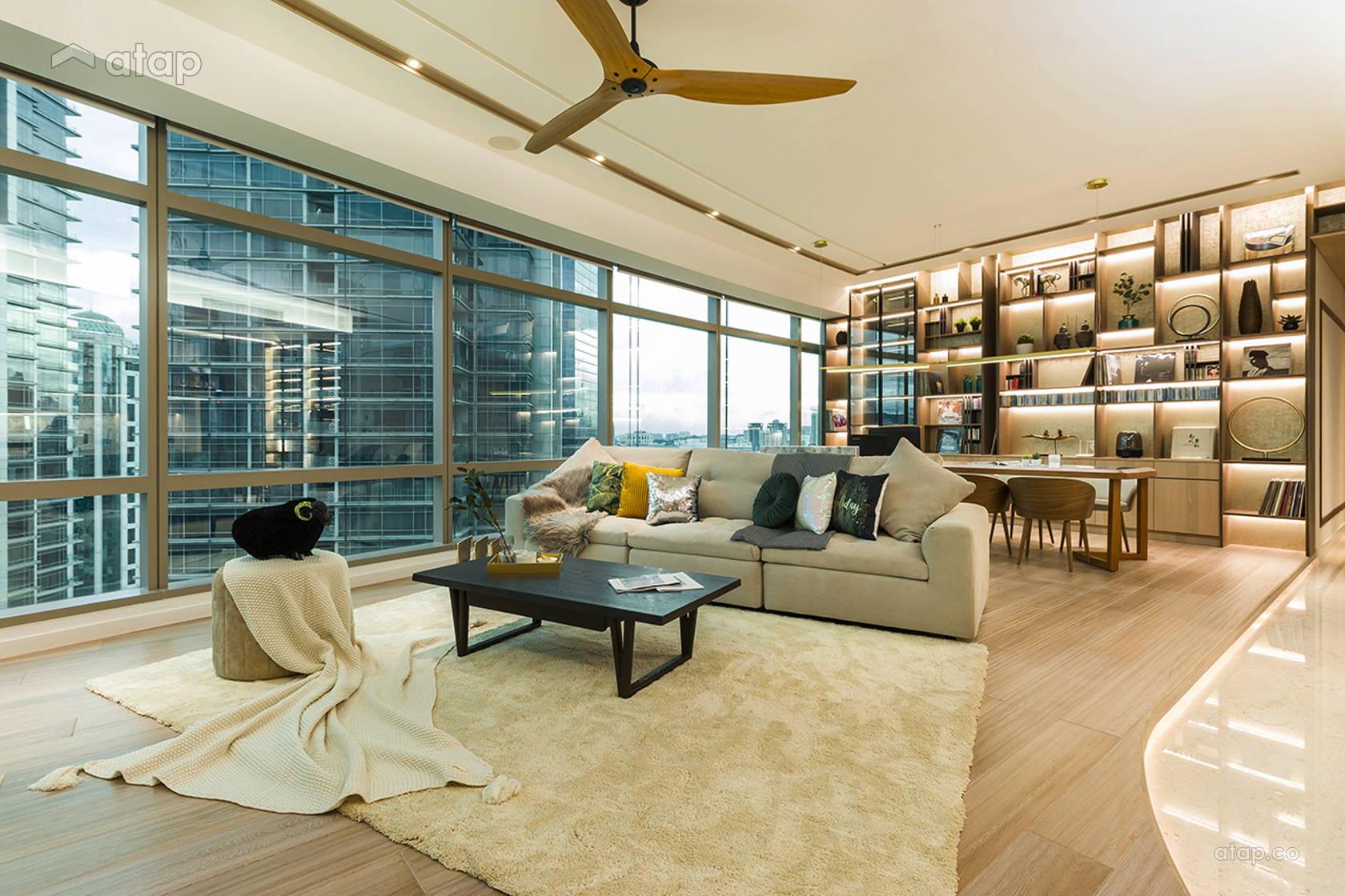 Industrial Scandinavian Dining Room Family Room @ Urban Luxury Sleek Contemporary