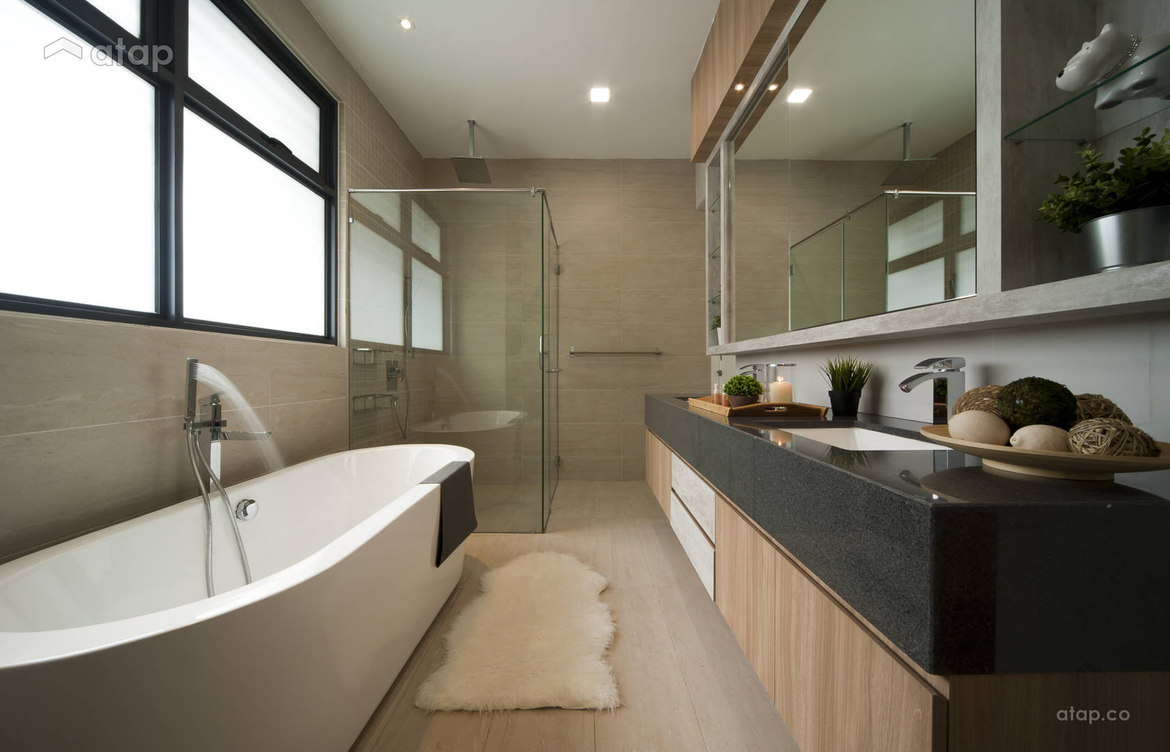 Classic Minimalistic Bathroom @ Sunway Eastwood