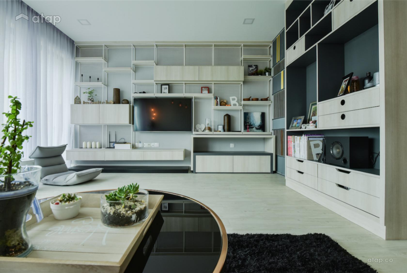 Scandinavian Living Room @ KL Sky Residences