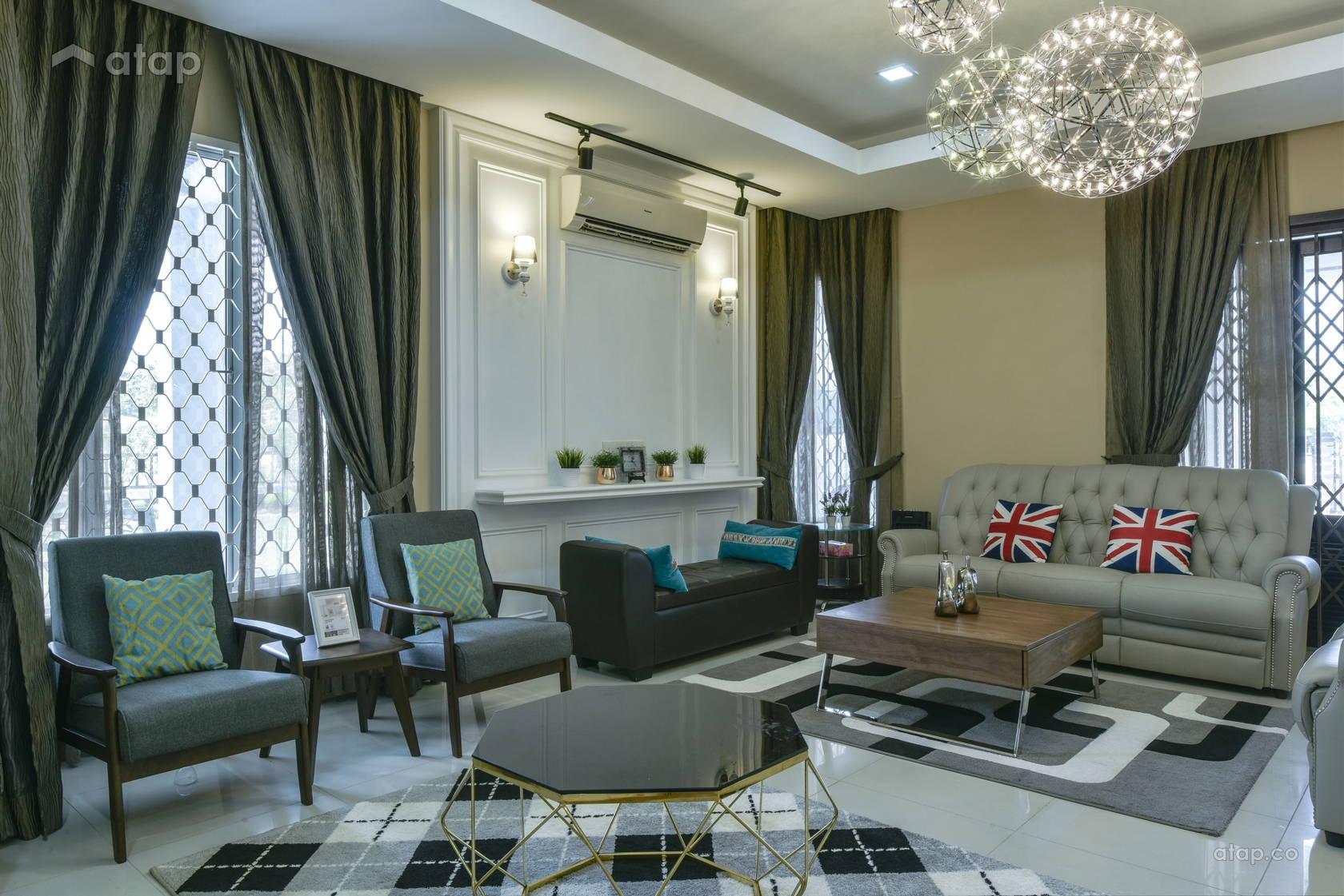 Scandinavian Vintage Living Room @ Alam Impian Residence