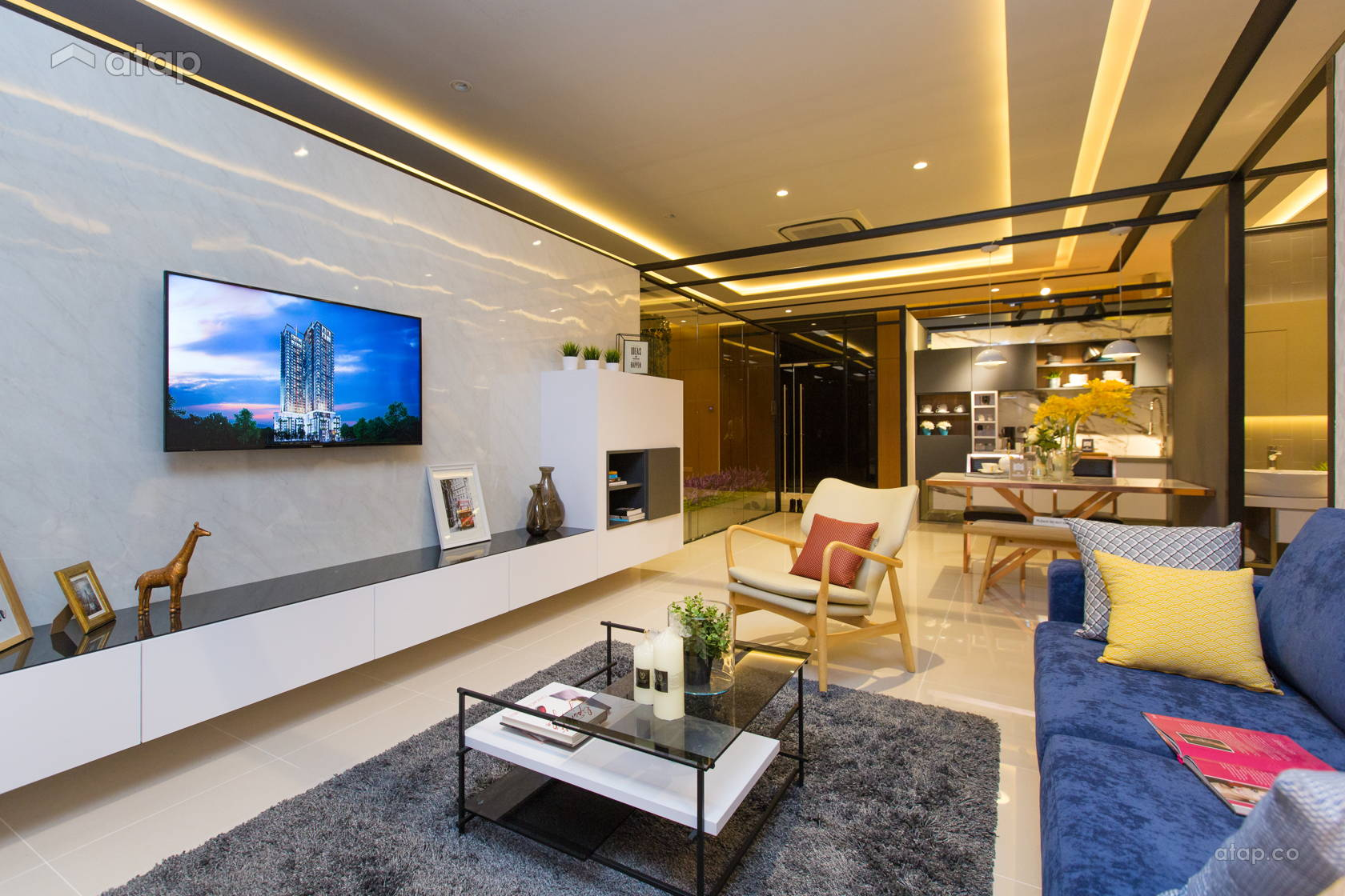 Contemporary Modern Living Room @ The Haute Show Unit