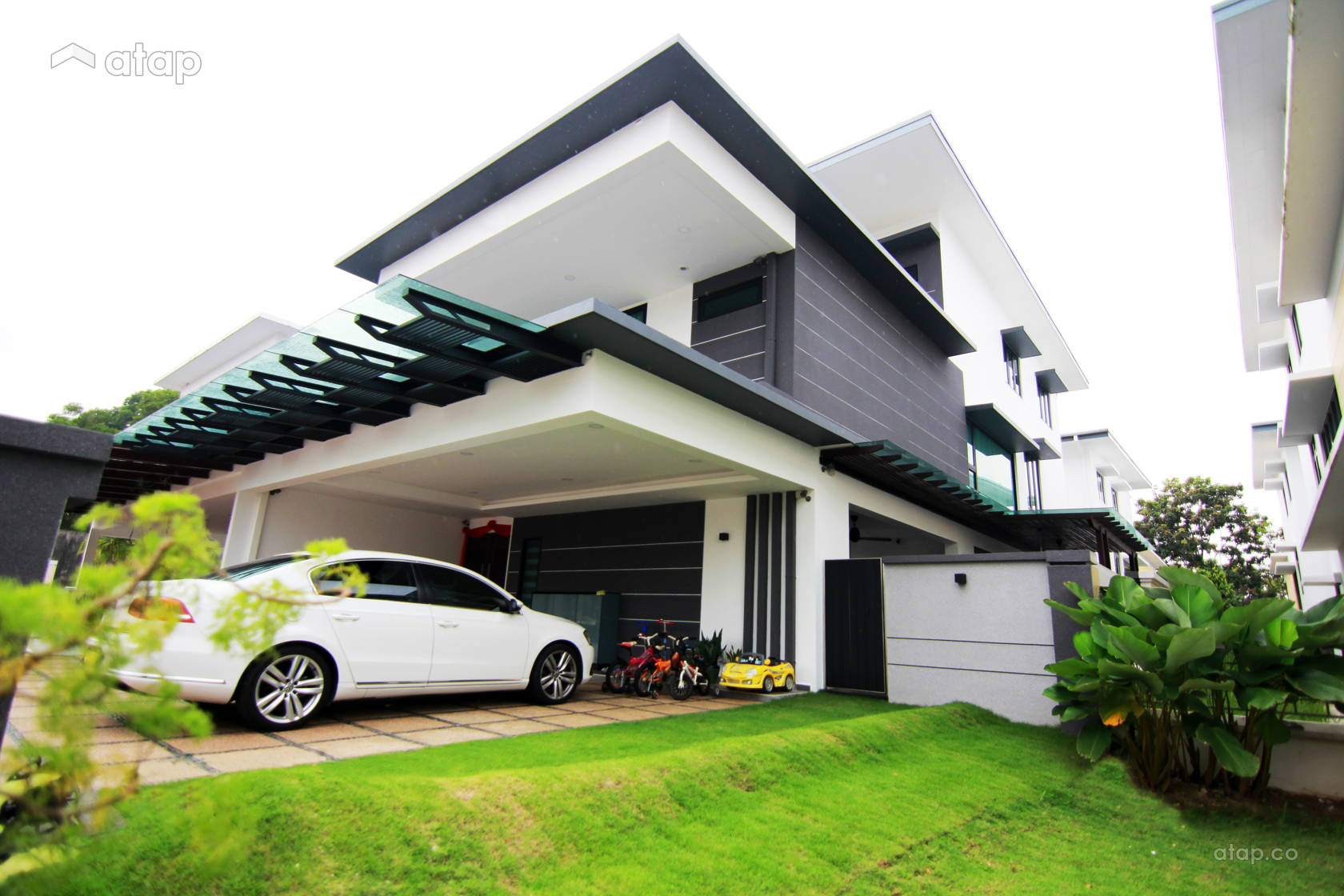 Asian Contemporary Exterior @ Sutera Residence