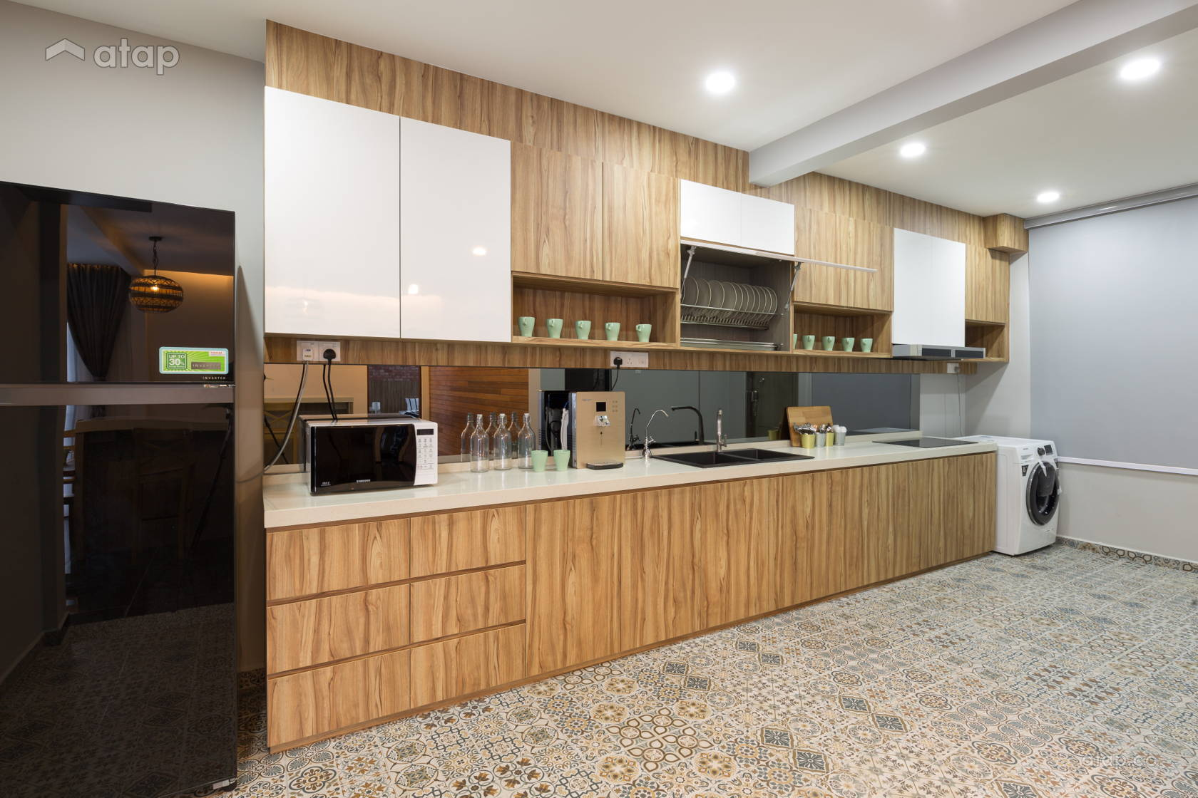 Contemporary Modern Kitchen @ Reborn_House