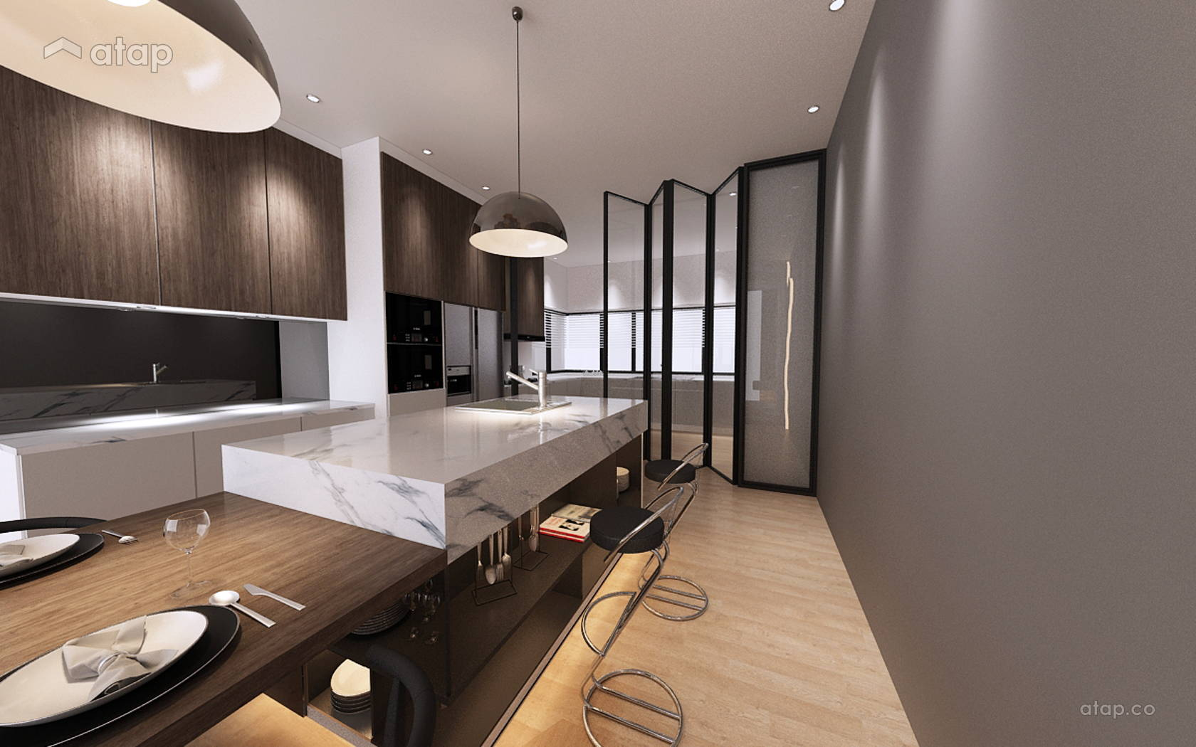 Minimalistic Modern Kitchen Empire Residence 4 Storey Terrace Damansara Perdana Share This Professional