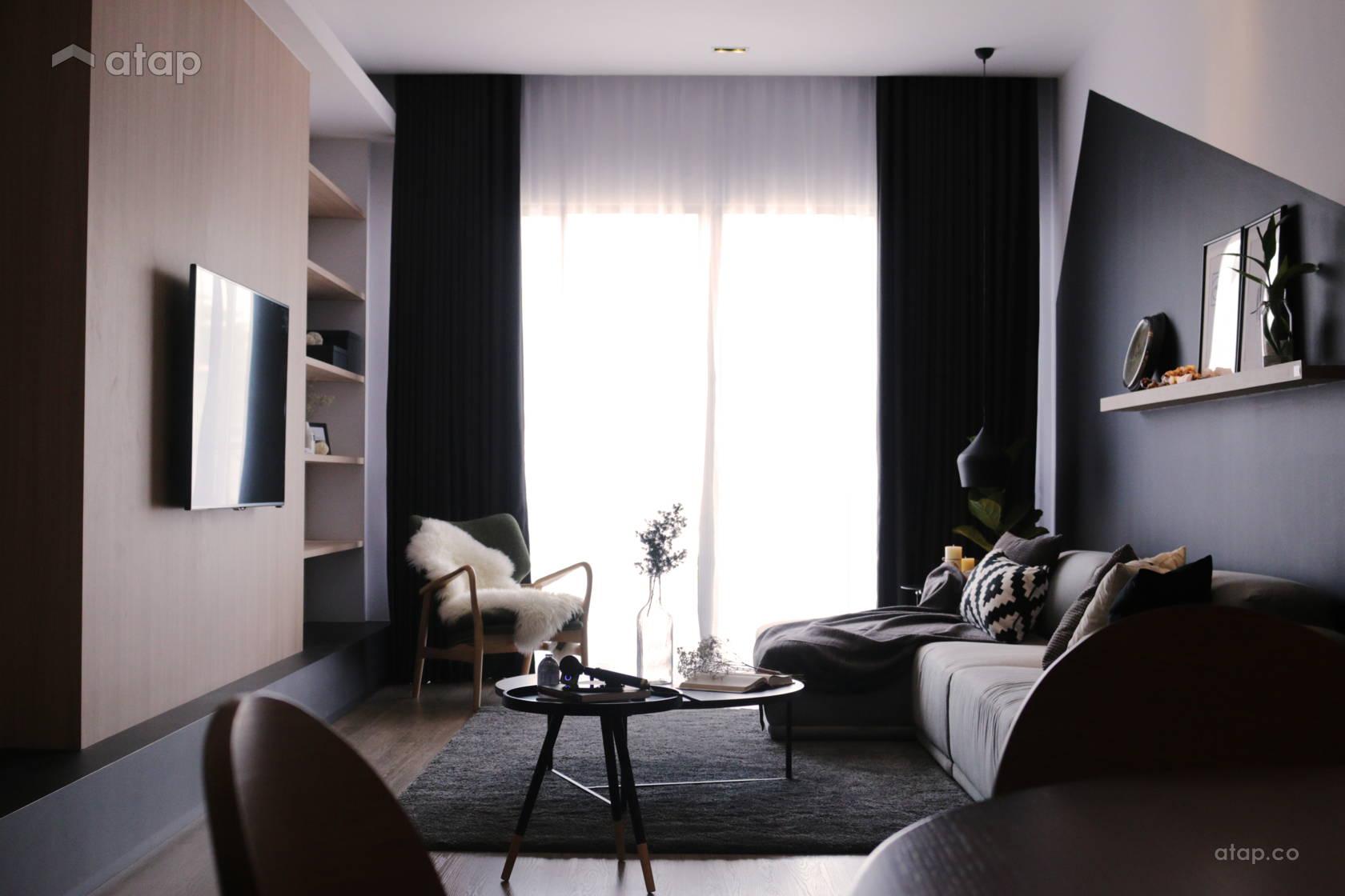 Contemporary Scandinavian Living Room @ King Ong House