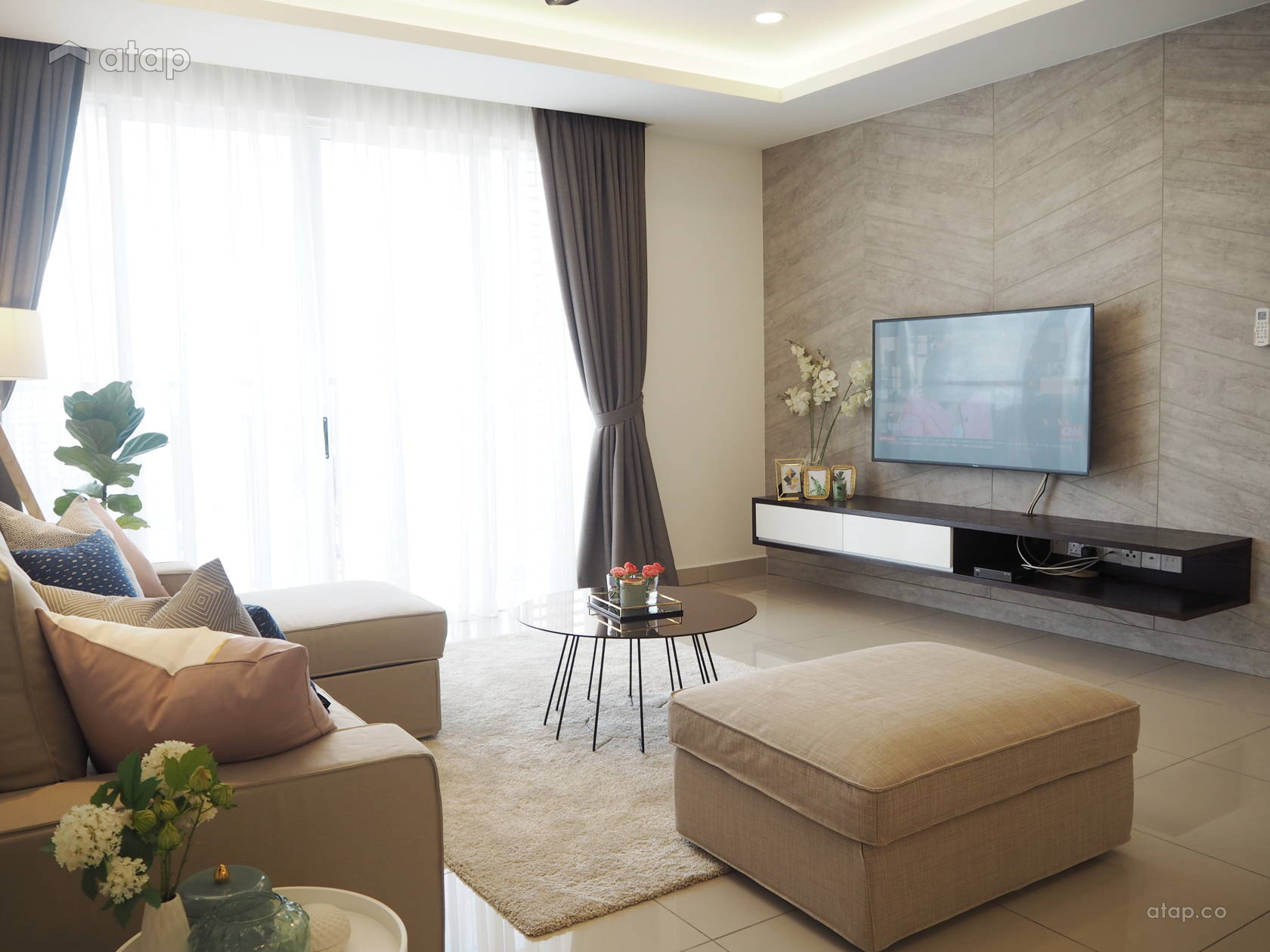 Contemporary Minimalistic Living Room Condominium Design Ideas Photos Malaysia