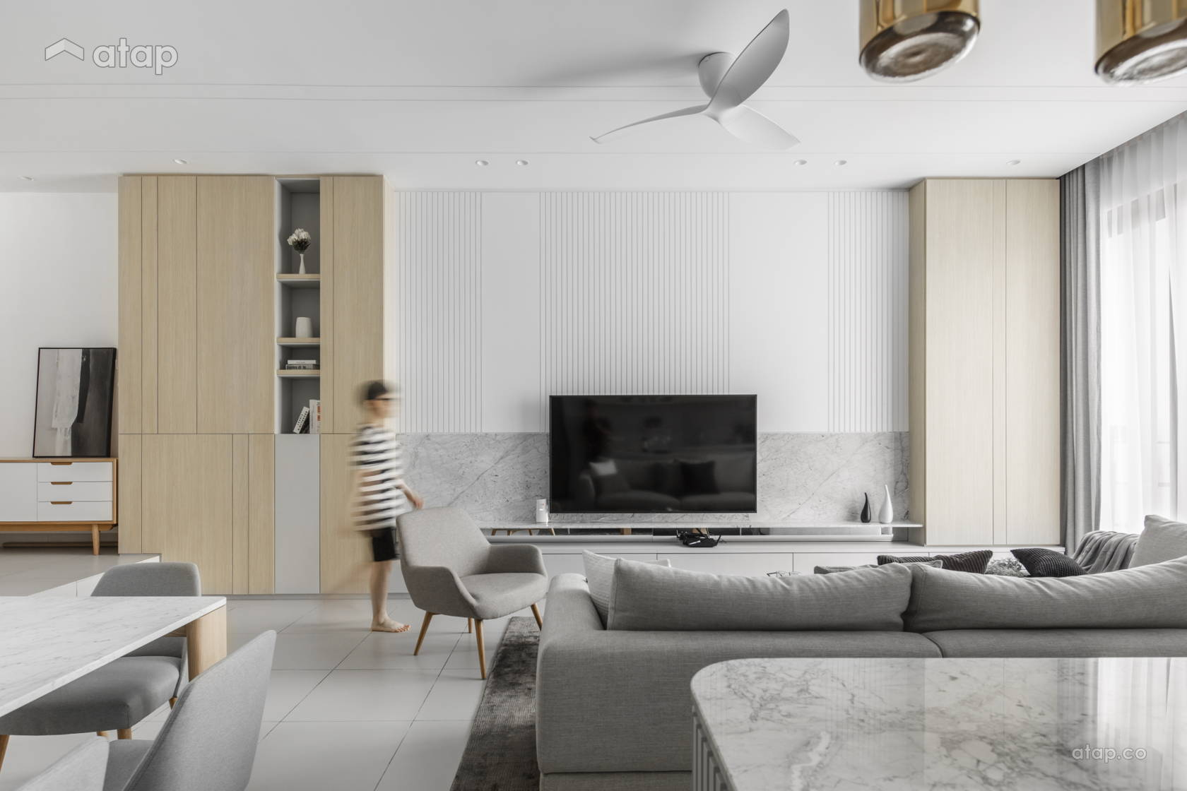 Minimalistic Modern Dining Room Living Room @ The Lighthaus - Andes Villa