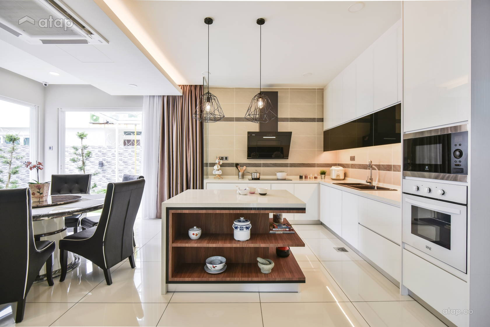 Contemporary Dining Room Kitchen @ Bayu Damansara