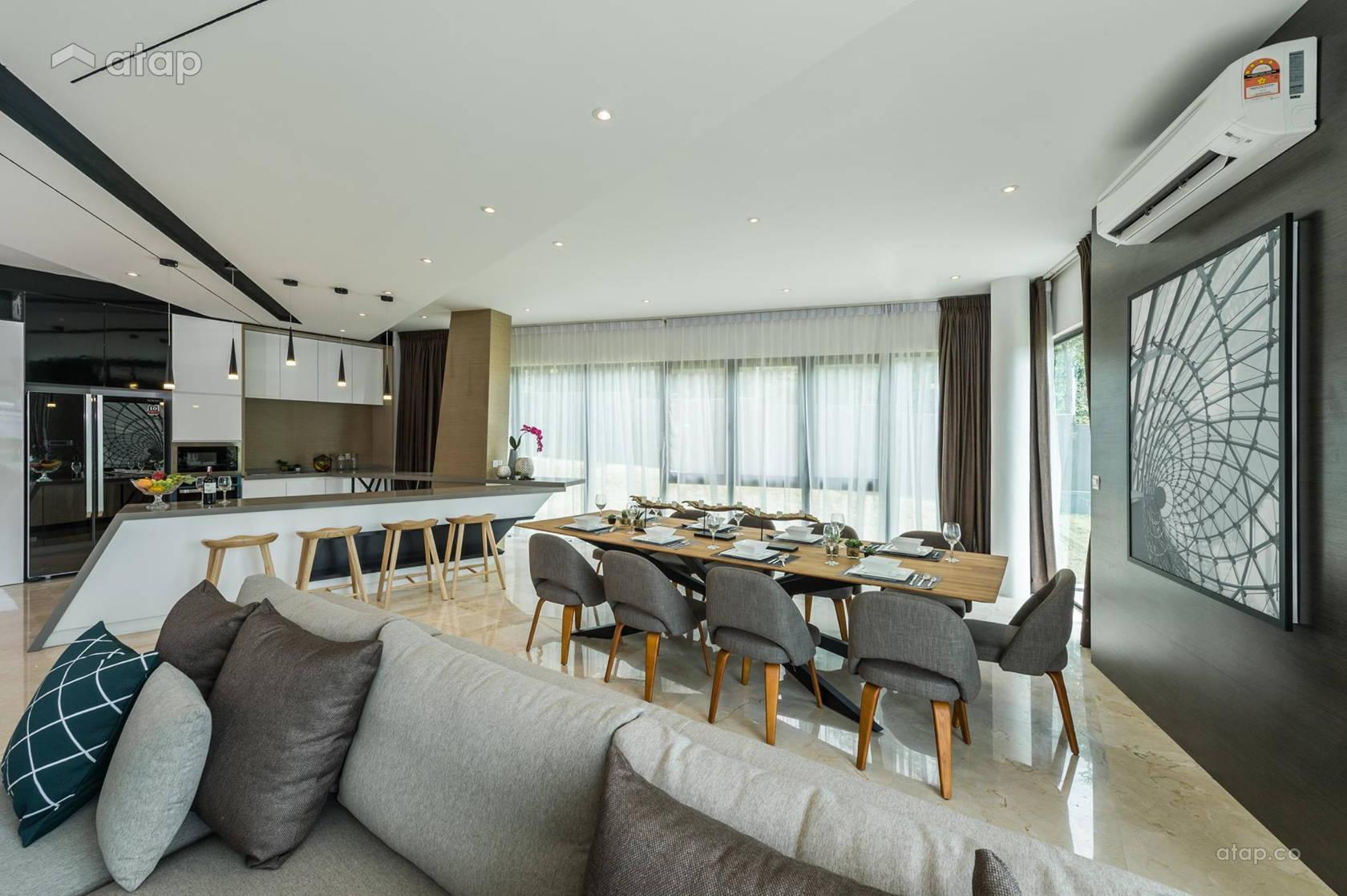 Modern Kitchen Living Room bungalow design ideas & photos Malaysia