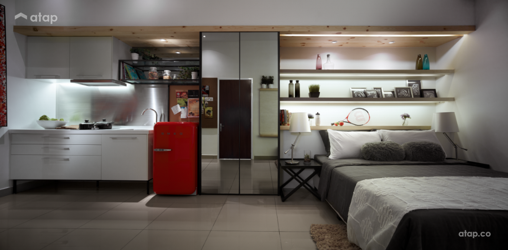 Contemporary Modern Bedroom @ One Sentral Serviced Residences