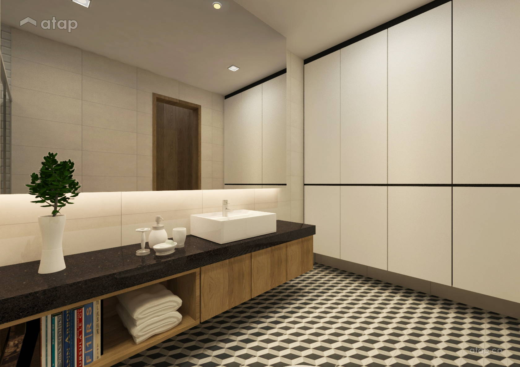 Contemporary Modern Bathroom @ X2 Residency, Puchong South