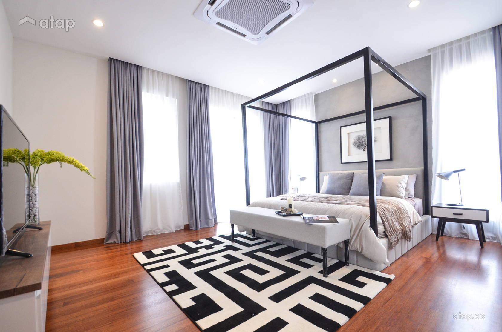 Contemporary Scandinavian Bedroom @ Alpina Residensi