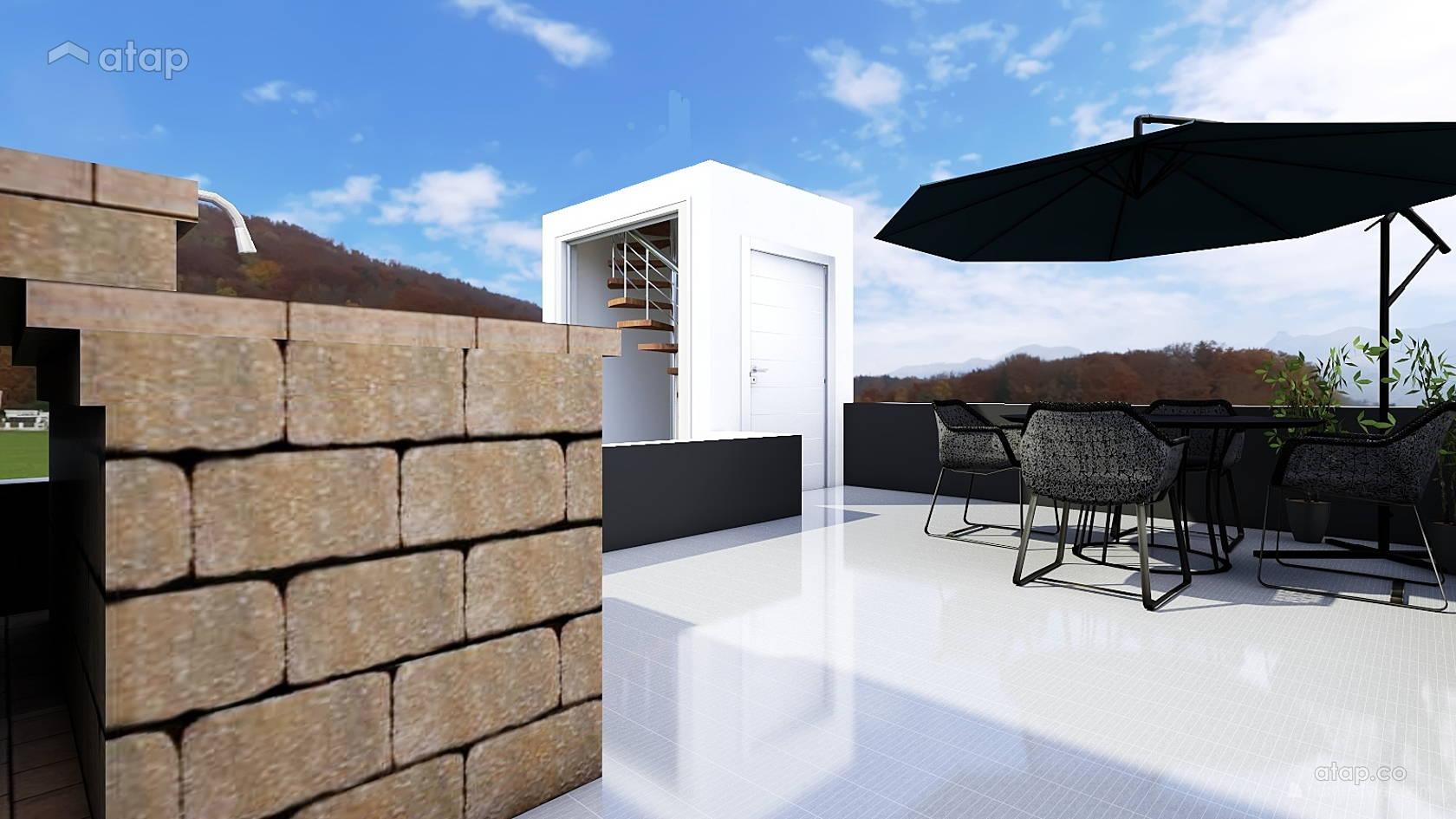 Industrial Minimalistic Balcony Garden Terrace Design Ideas
