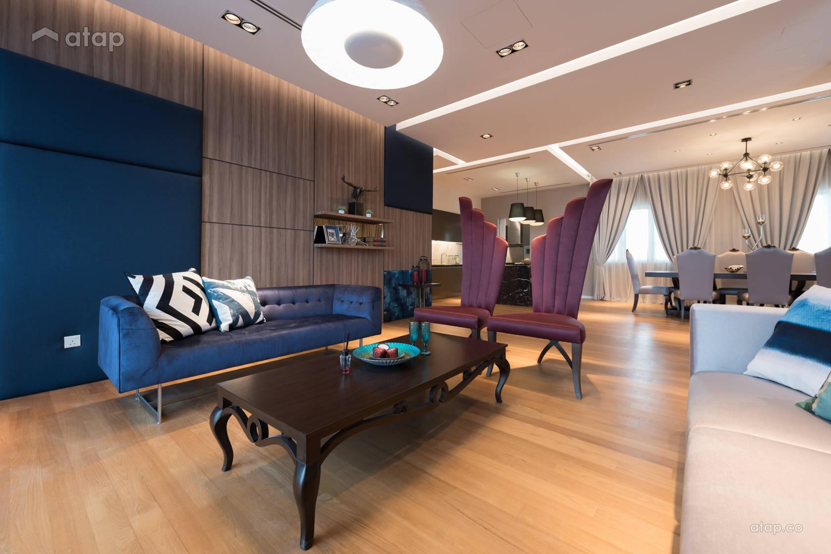 Classic Modern Living Room @ Datuk Tee's 222 Penthouse @ Setapak