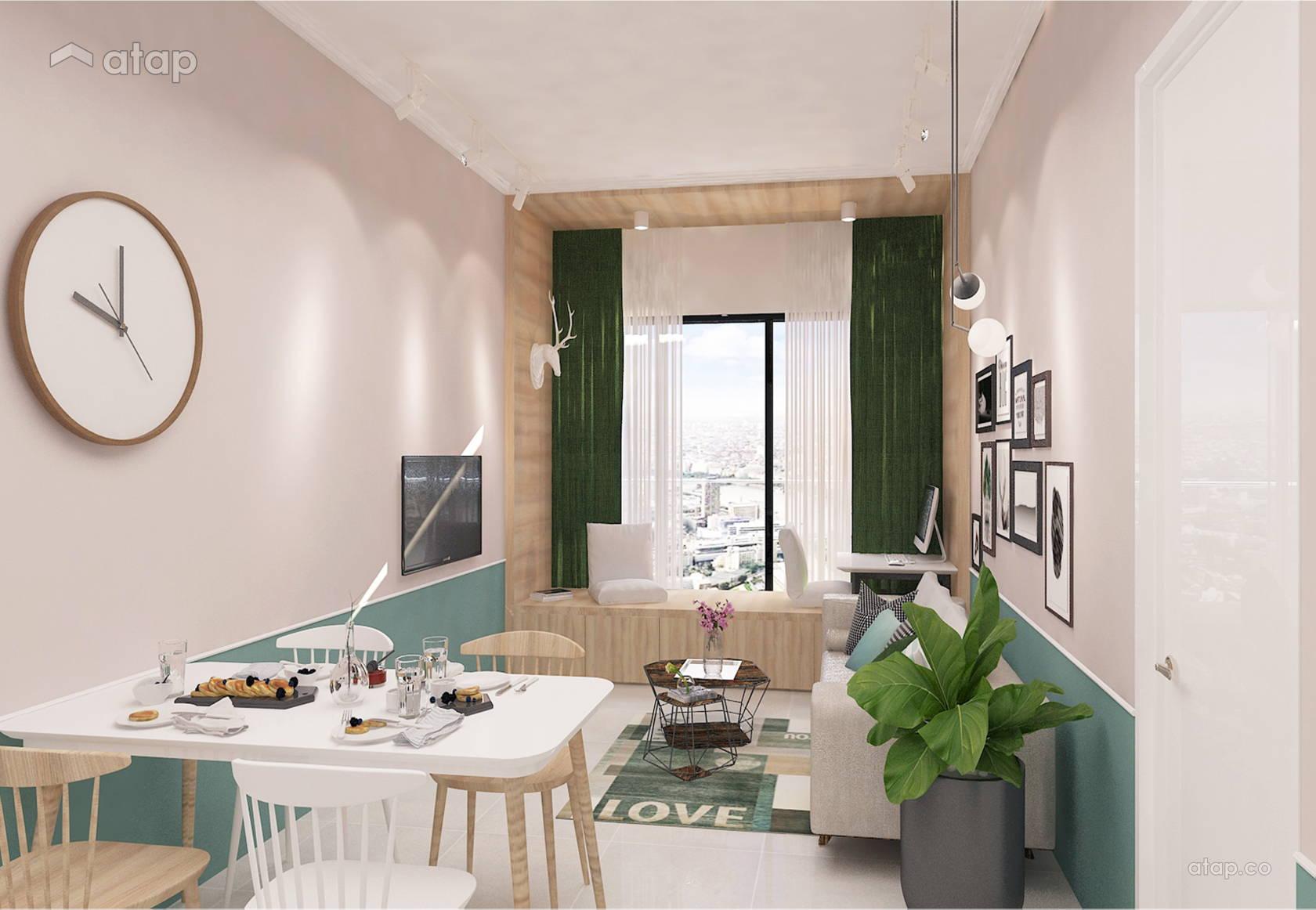 Modern Scandinavian Dining Room Living Room @ Laid Back In The City @ Citizen 1, Jalan Klang Lama (Old Klang Road)
