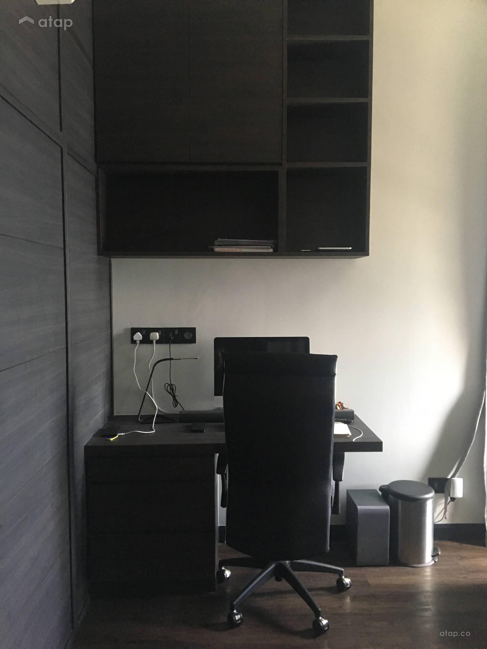 Condominium Study Room: Industrial Modern Study Room Condominium Design Ideas