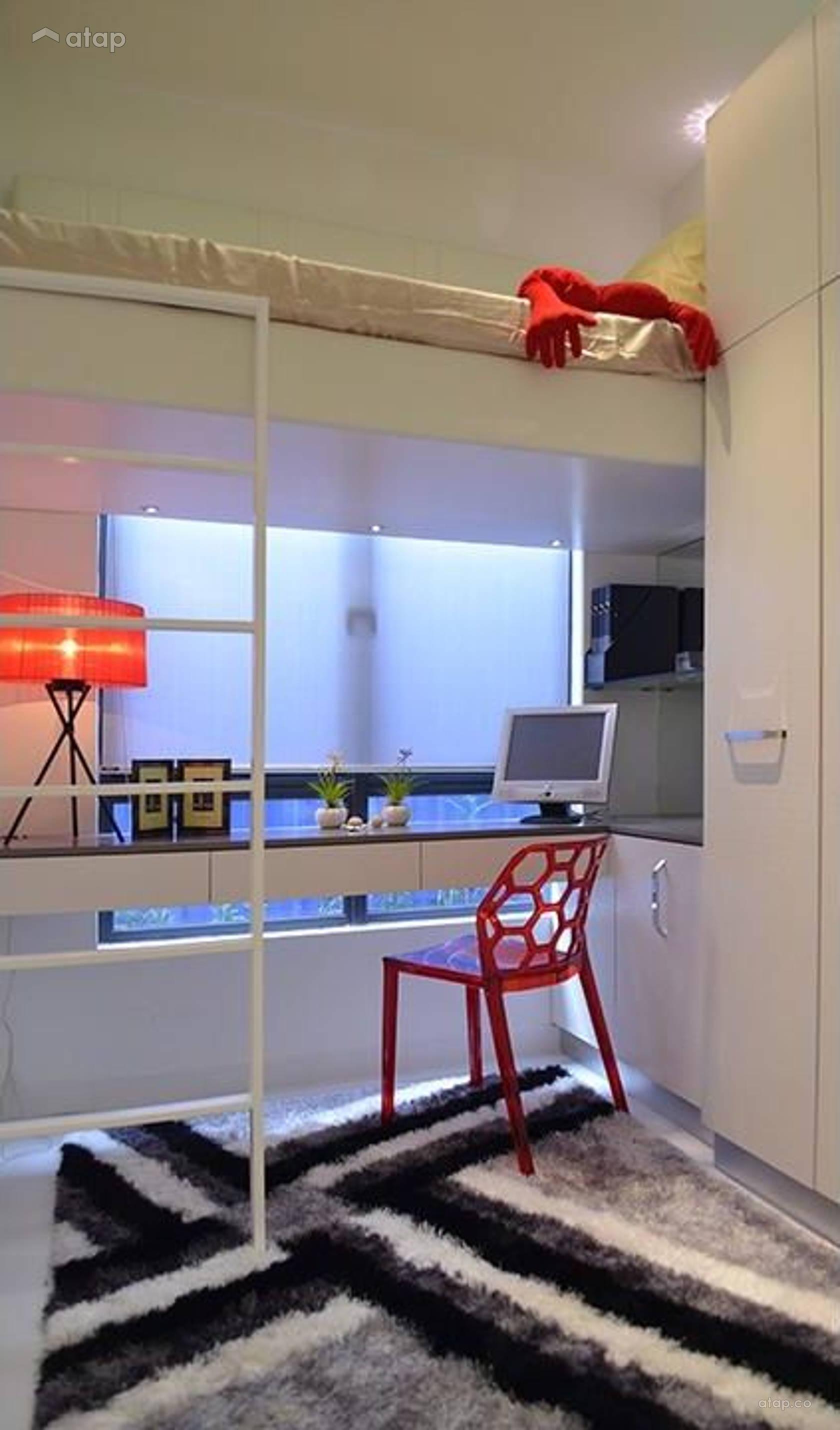 Condominium Study Room: Contemporary Modern Study Room Bedroom Condominium Design