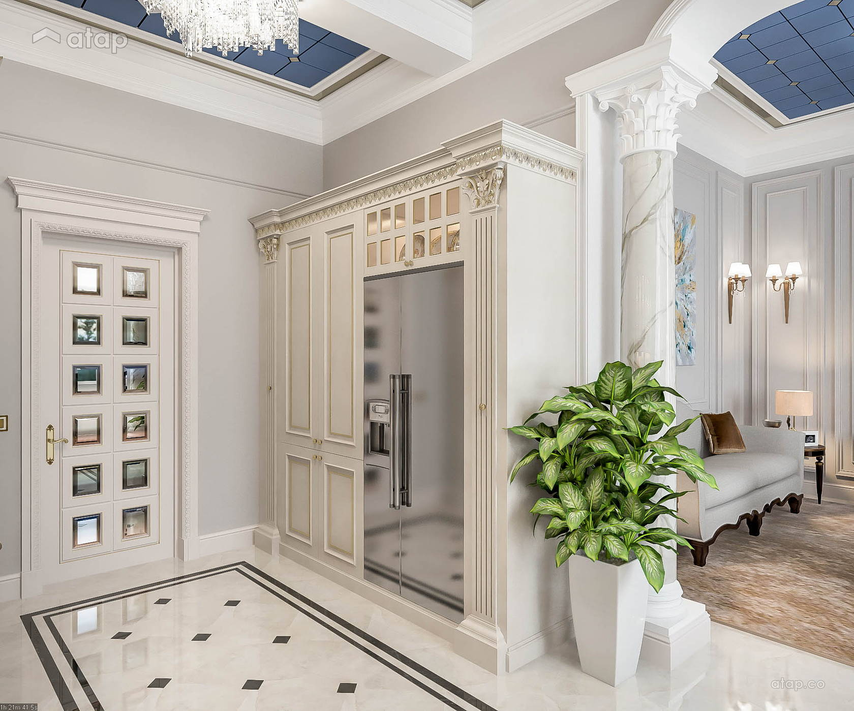 Modern Scandinavian Dining Room F&B condominium design ideas ...