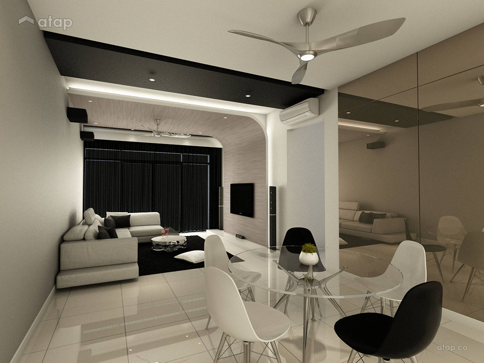 Contemporary living room z residence share this professional