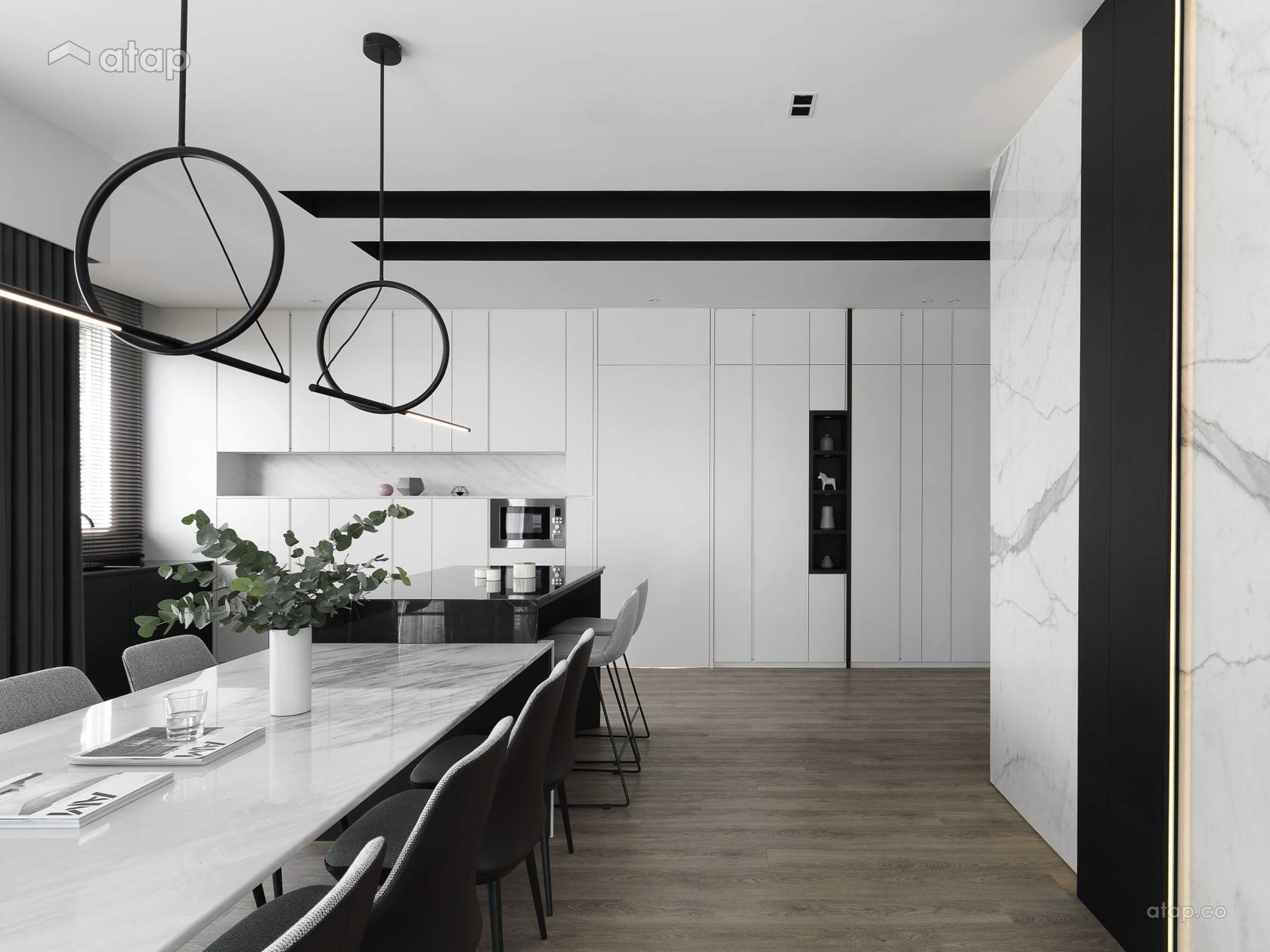Minimalistic Modern Dining Room Kitchen @ NEW HEIGHTS OF STYLE - Semi-D, Shah alam