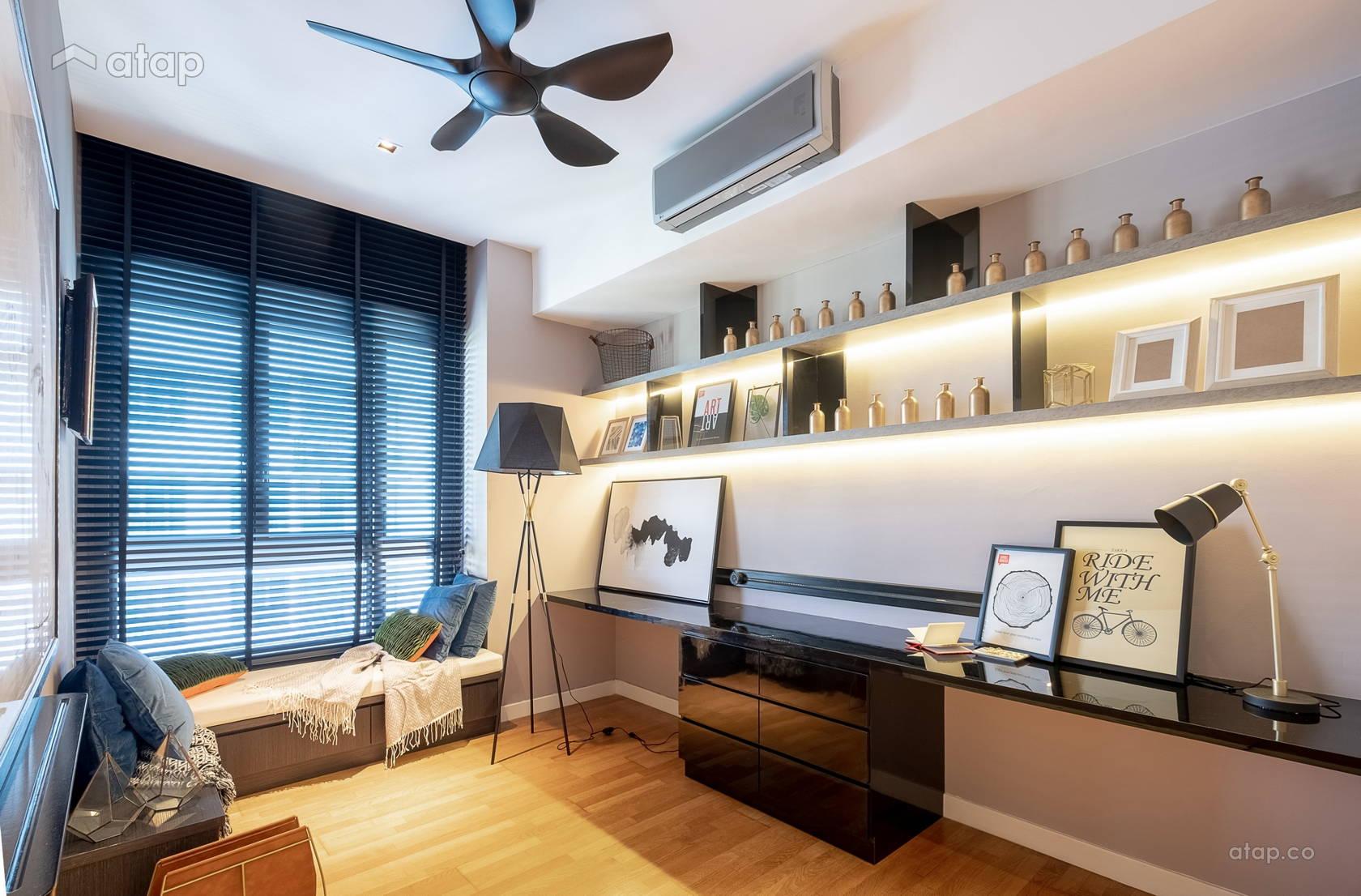 Minimalistic Modern Family Room Study Room Condominium Design Ideas Photos Malaysia Atap Co