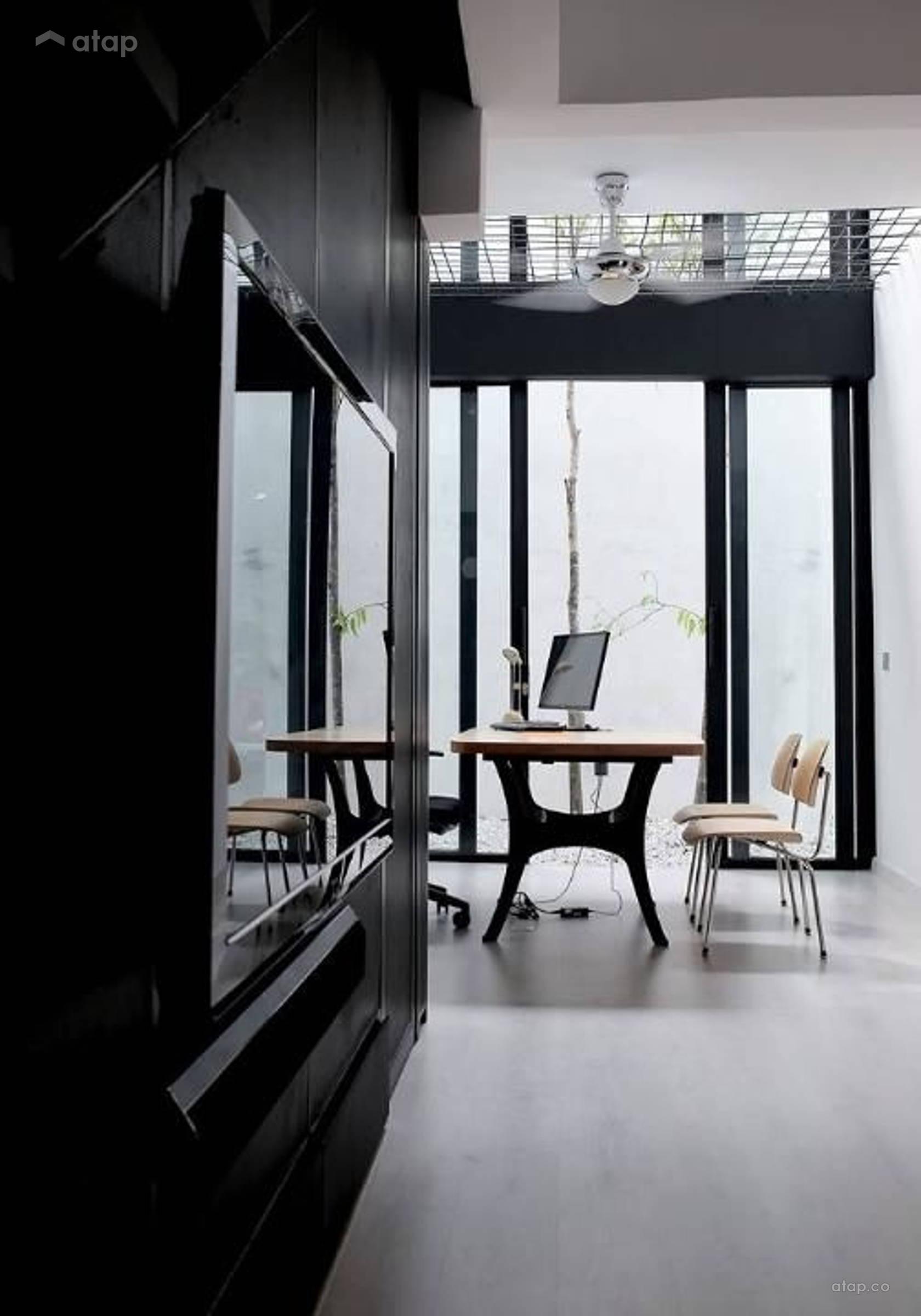 Condominium Study Room: Contemporary Modern Study Room Terrace Design Ideas
