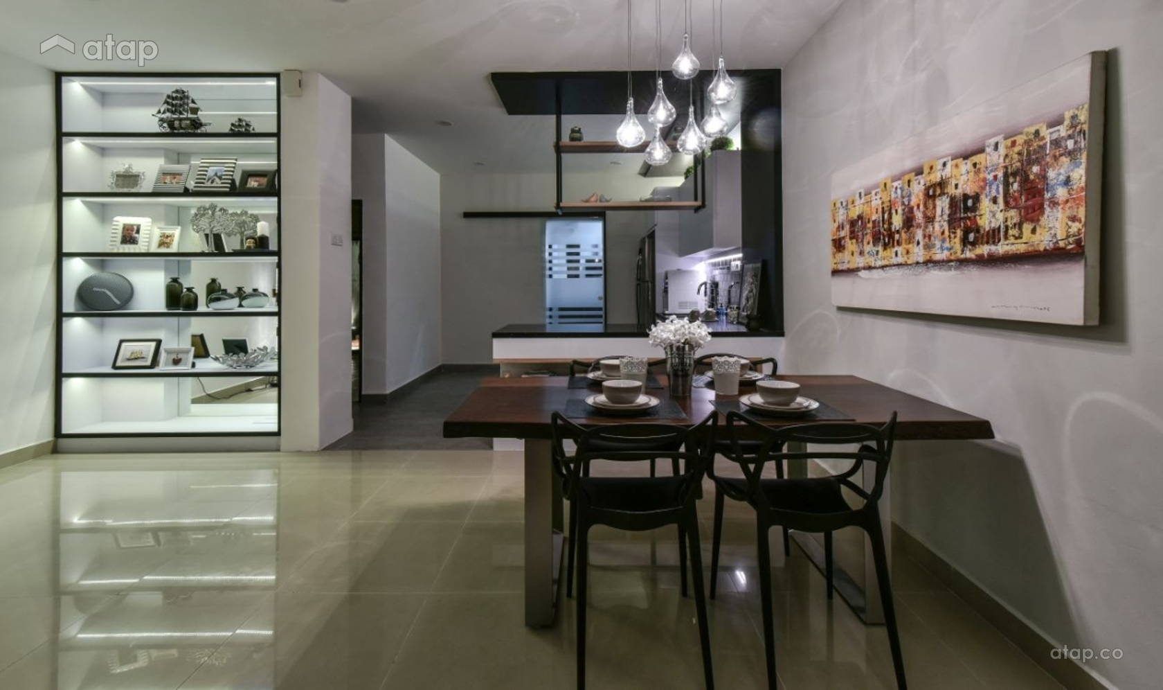 Contemporary Modern Dining Room @ Bandar Kinrara 9