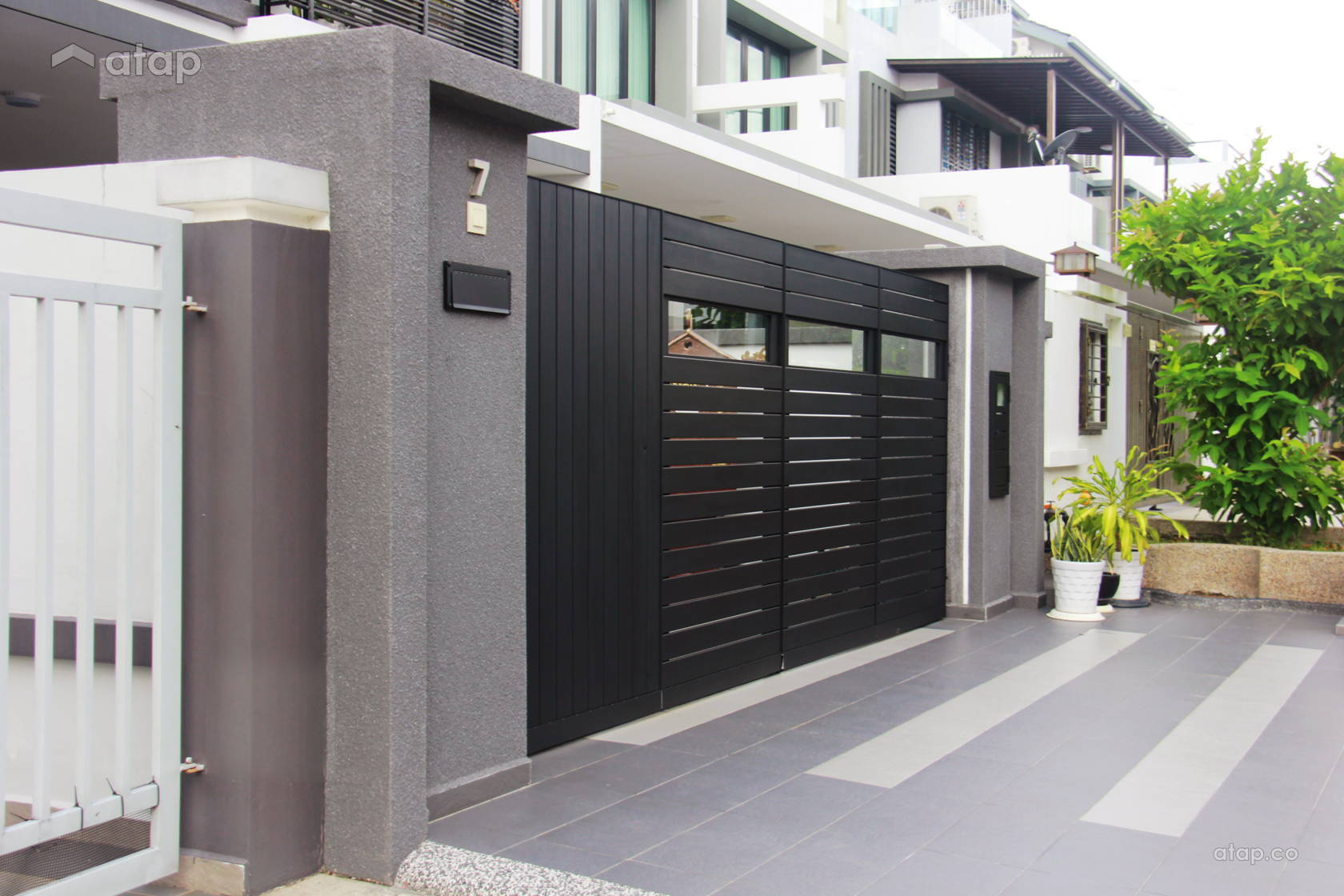 Contemporary Modern Exterior terrace design ideas & photos ... on Gate Color Ideas  id=72082