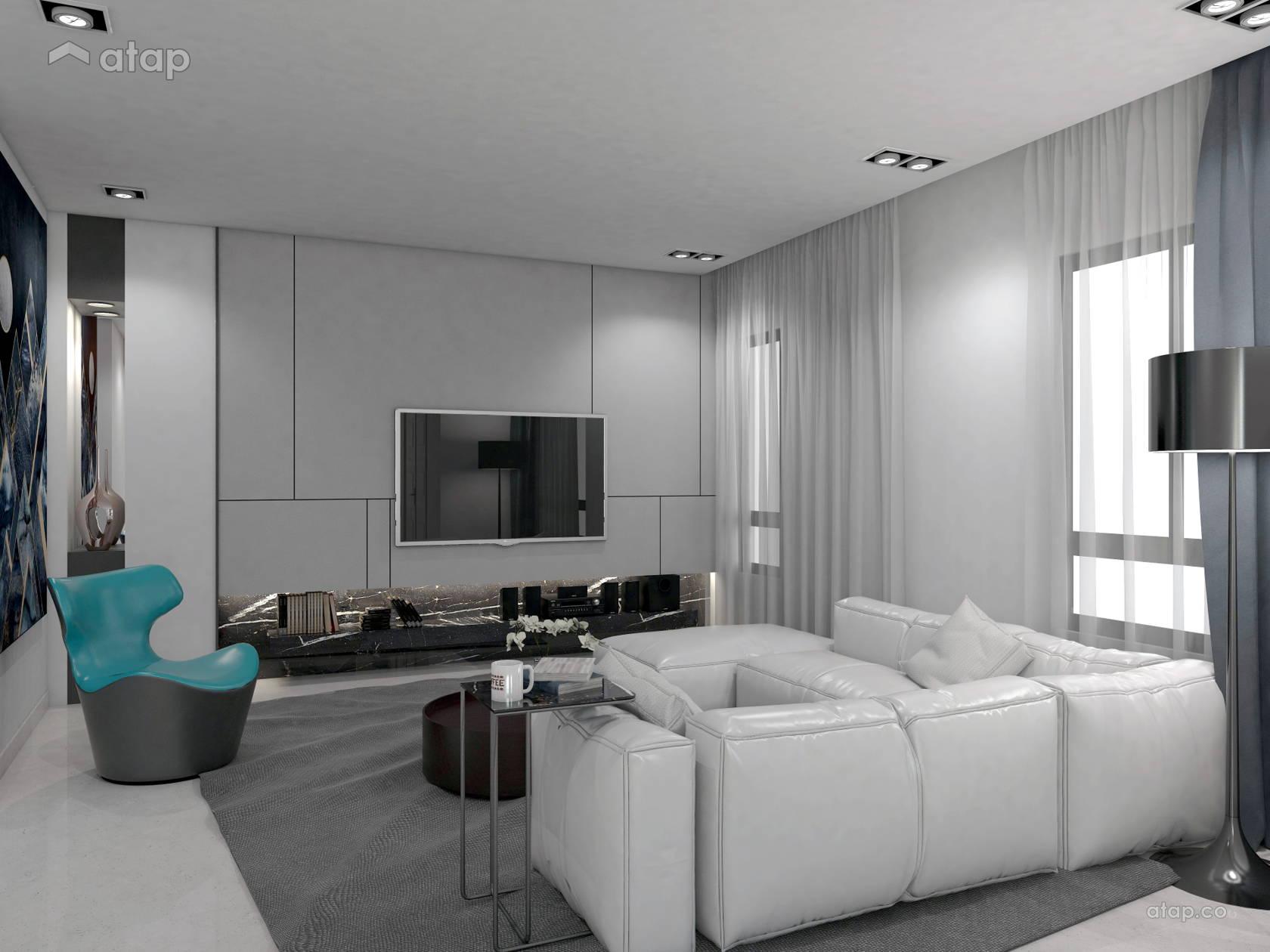 Minimalistic Living Room terrace design ideas & photos ...