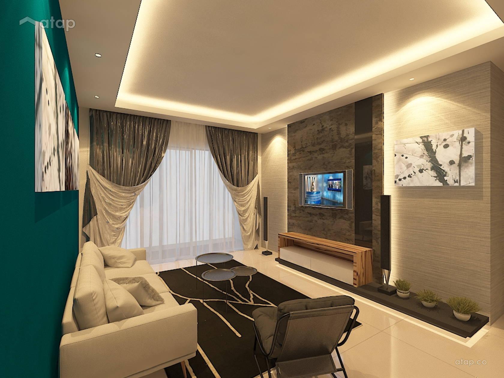 Contemporary Living Room condominium design ideas & photos