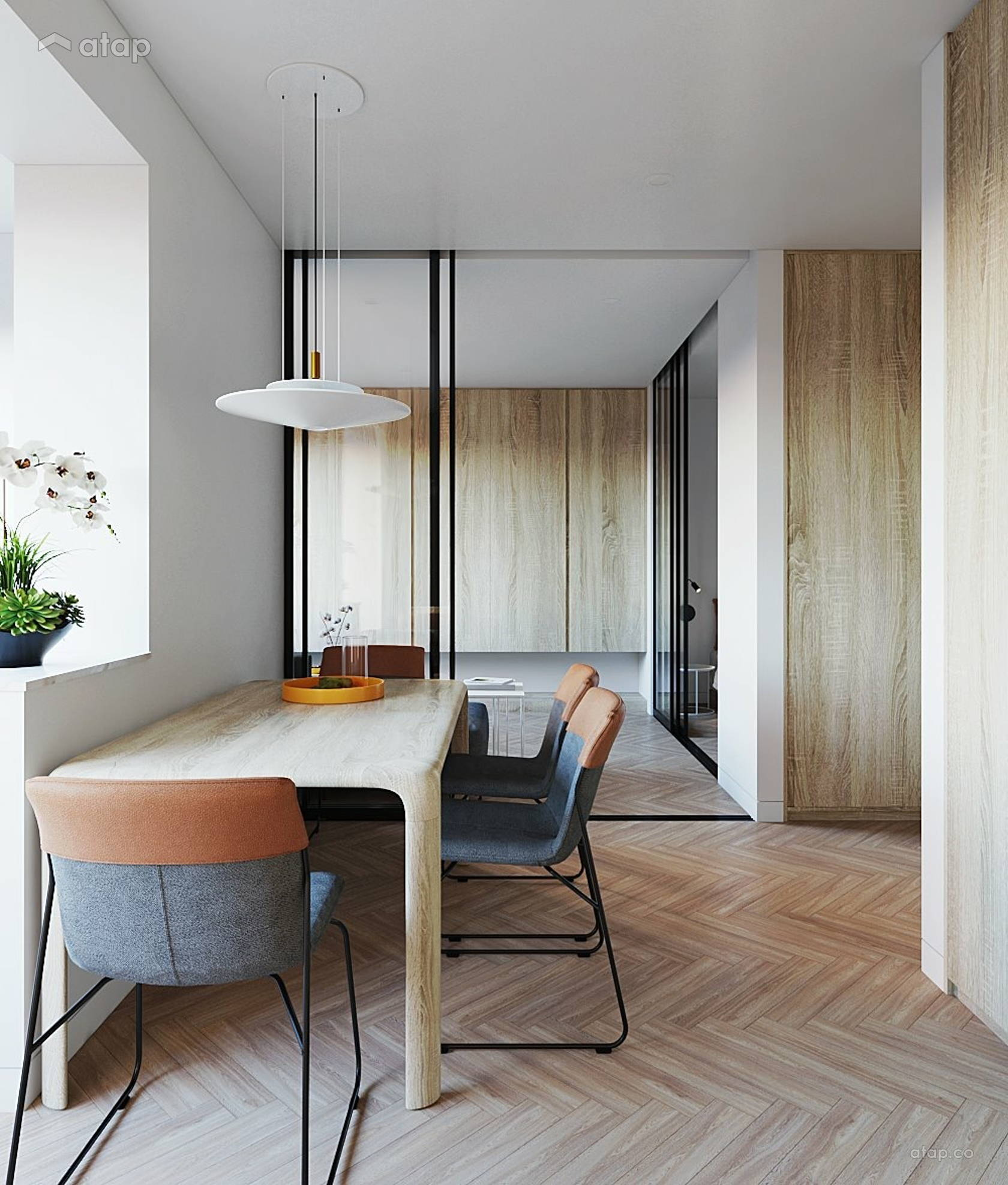 Minimalistic Zen Dining Room Living Room @ Studio, Petaling Jaya, Selangor.