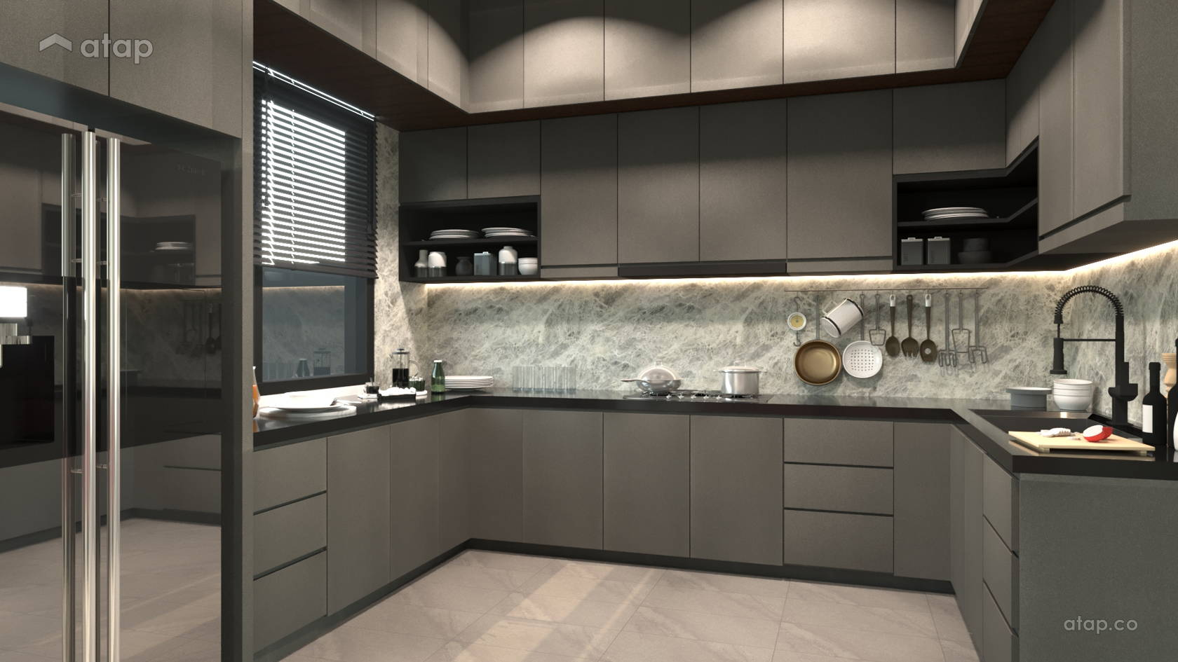 Contemporary Modern Kitchen @ Laman Bayu