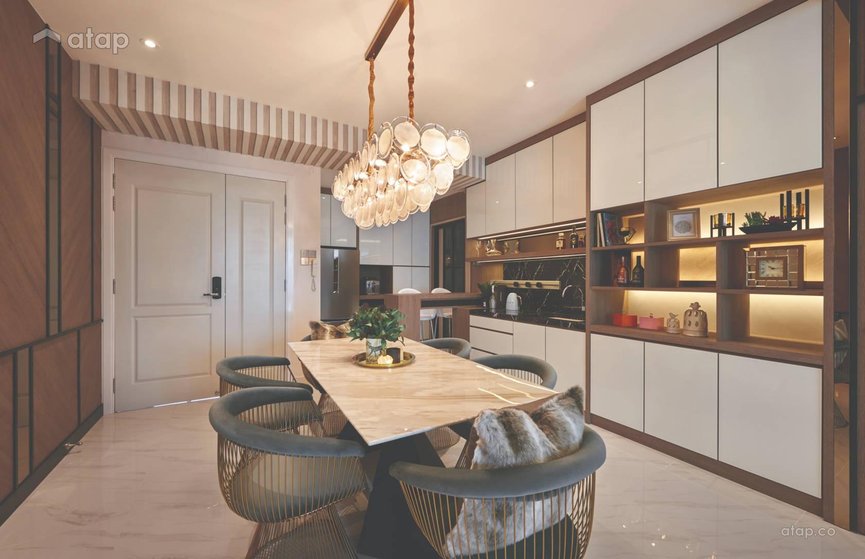 Contemporary Modern Dining Room Kitchen @ Marinox Condo