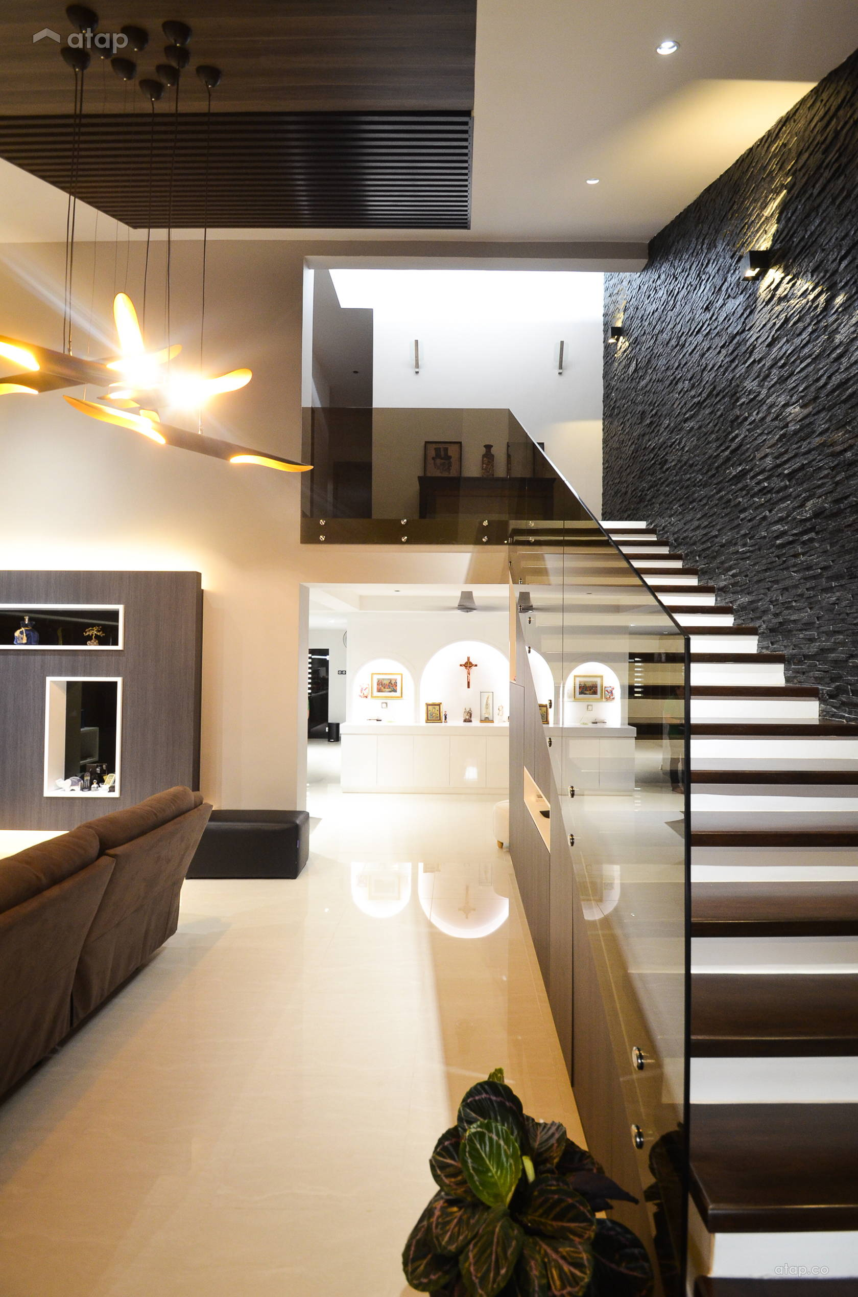 Contemporary modern foyer living room terrace house pj ss2 share this professional