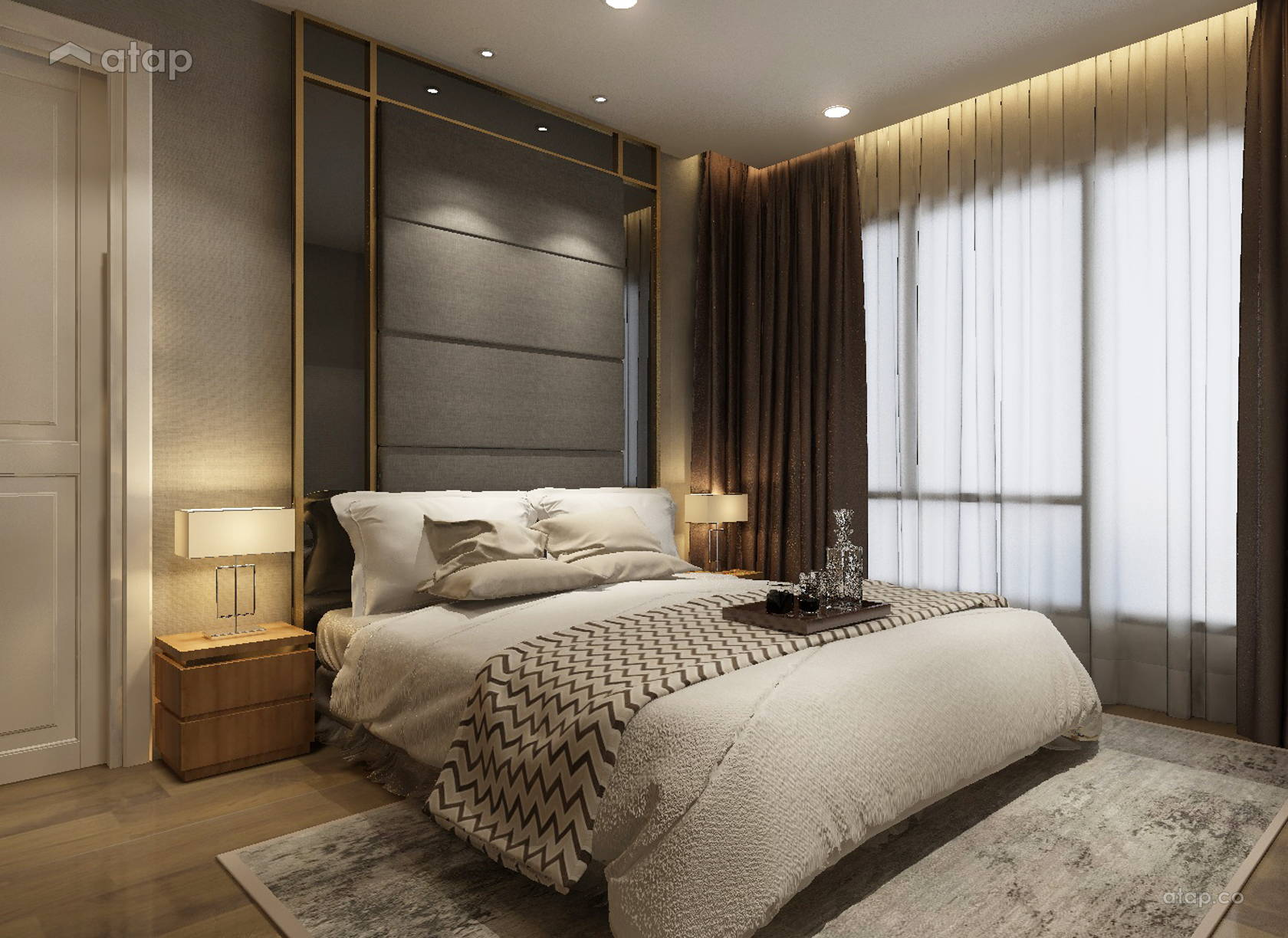 Contemporary Bedroom @ Exclusive Condominium in KL