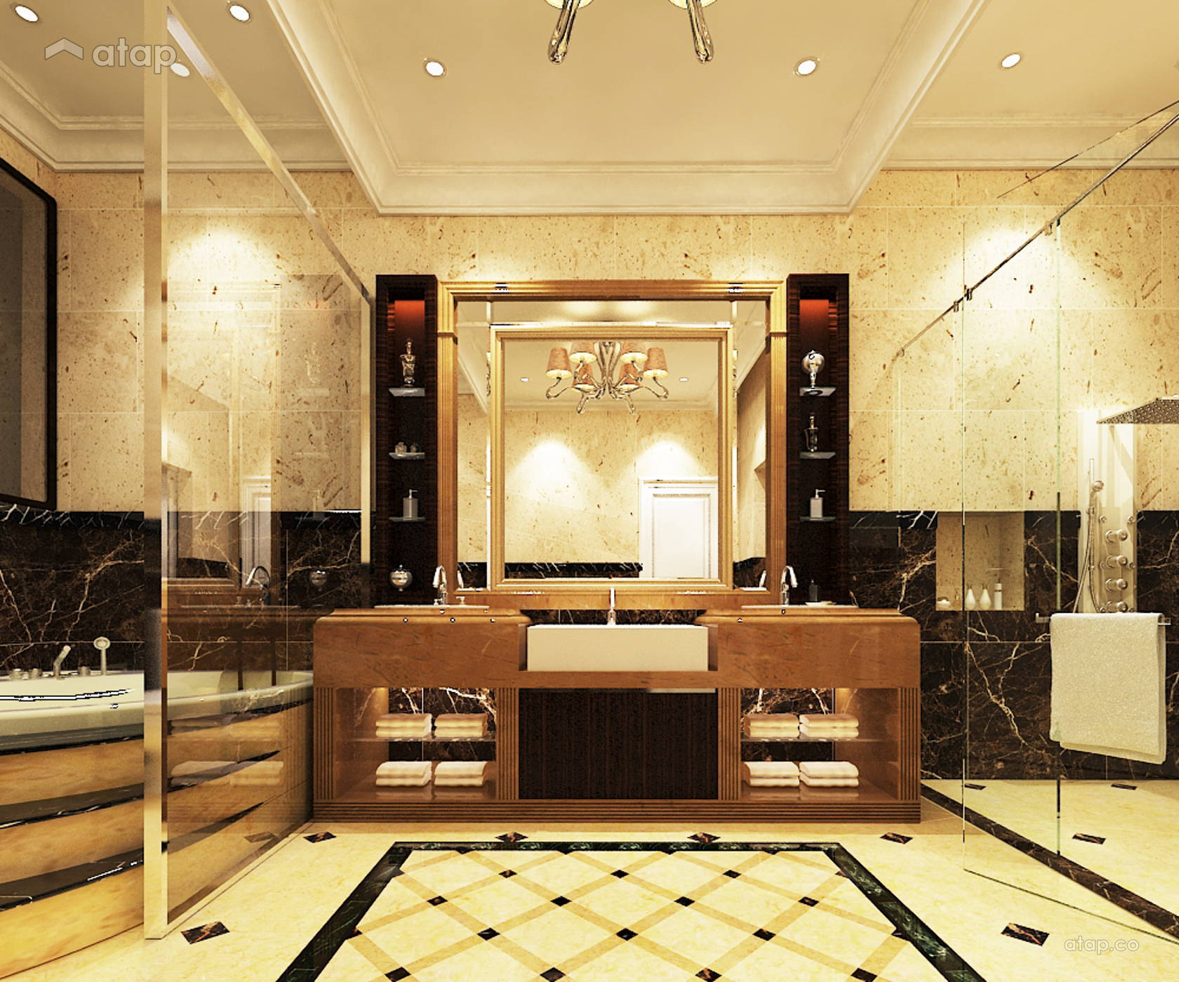 Classic Bathroom @ Bungalow - Taman Sri Gombak