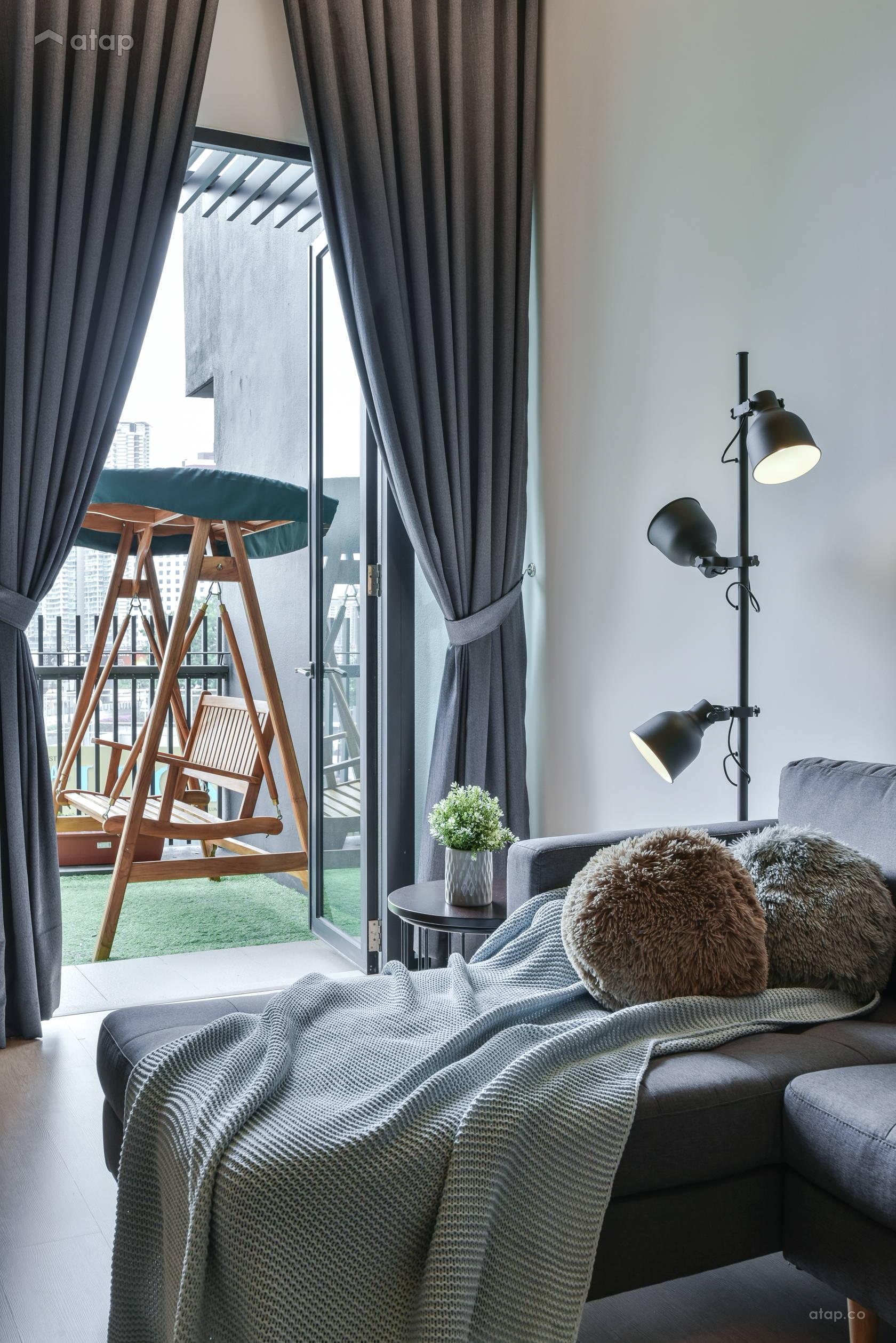 Atap.co & Modern Scandinavian Balcony Living Room condominium design ideas ...