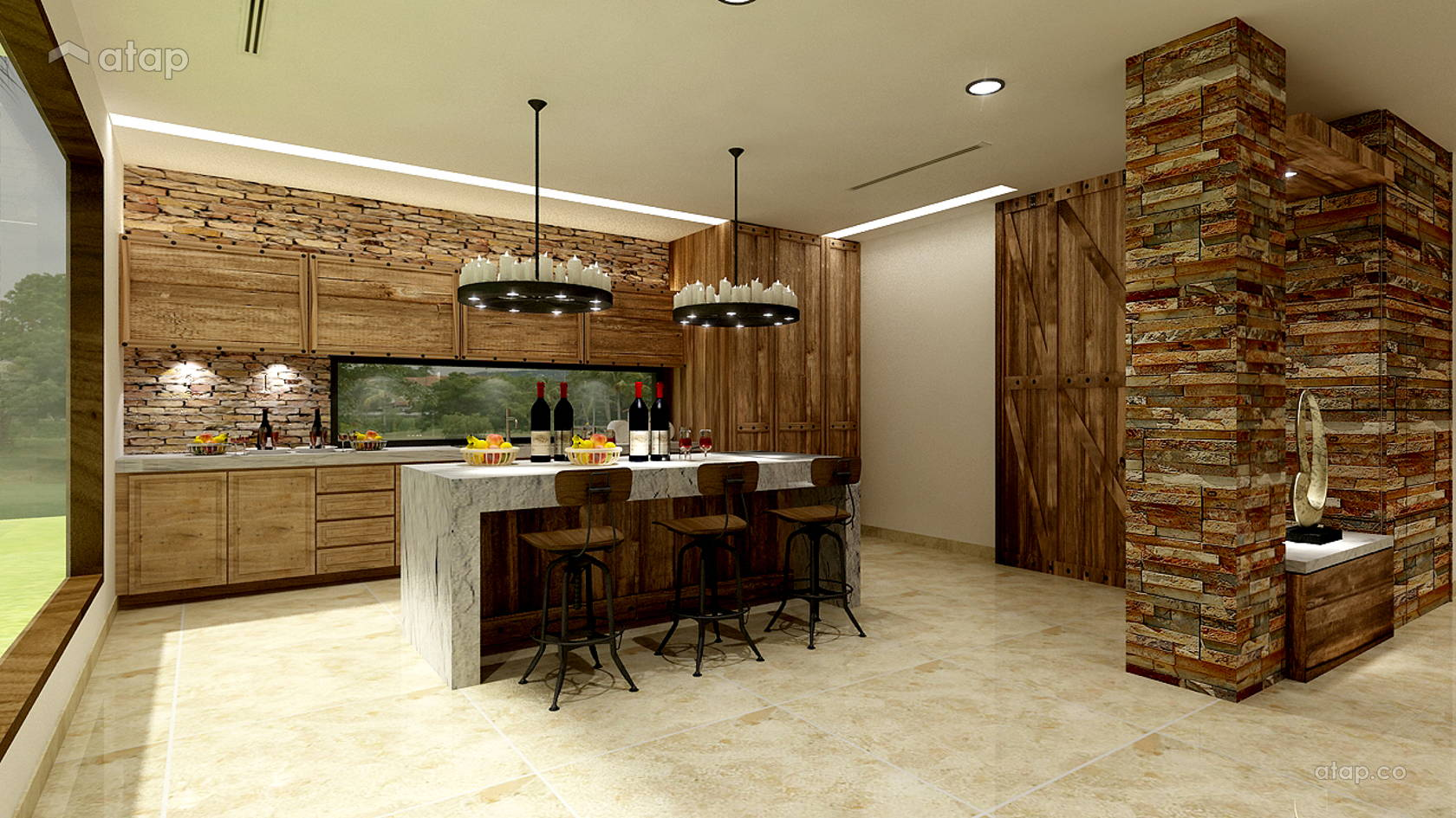 Rustic Kitchen @ TROPICANA GOLF CLUB BUNGALOW HOUSE