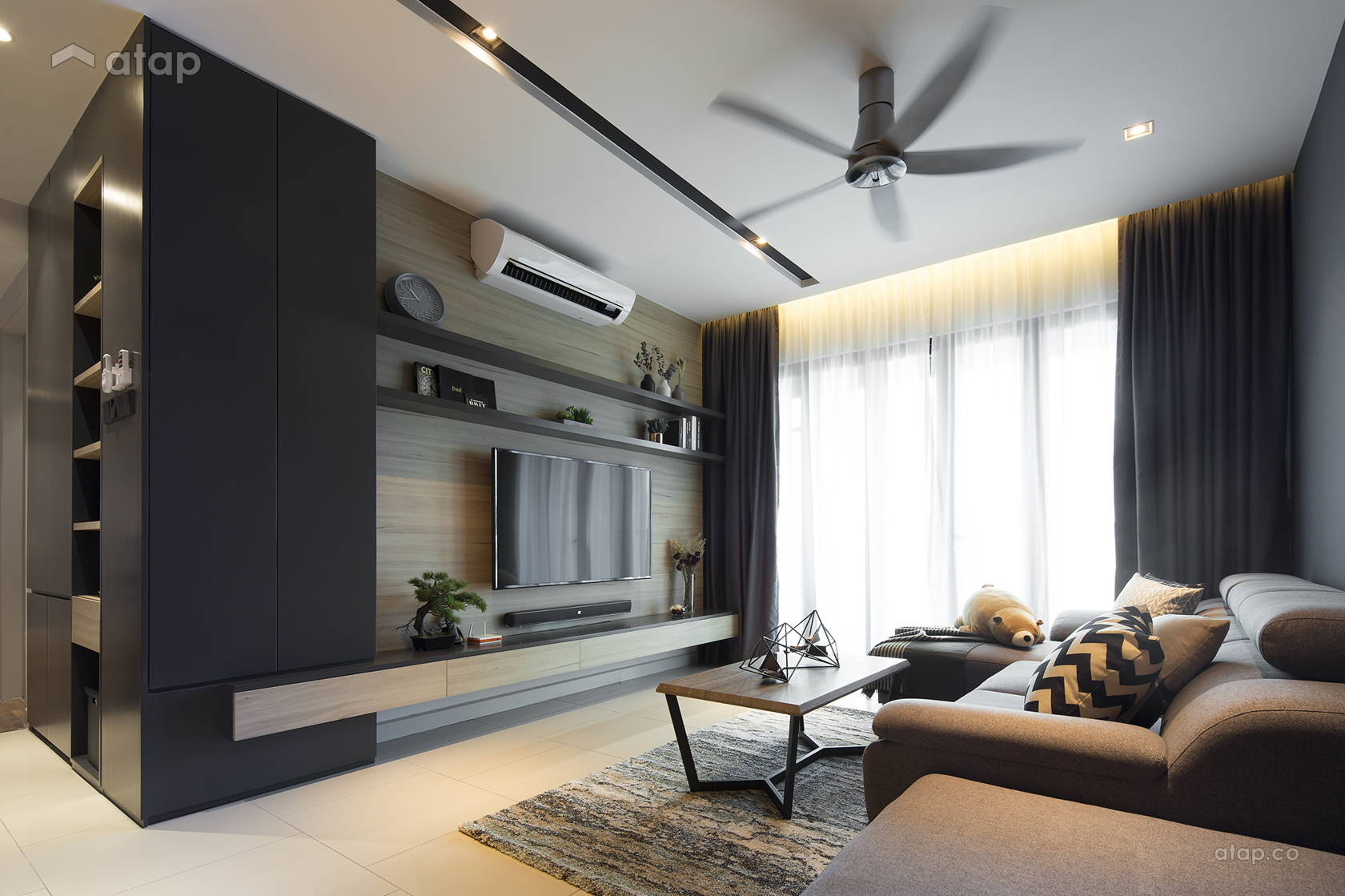 Contemporary Modern Living Room @ The Reach, Titiwangsa