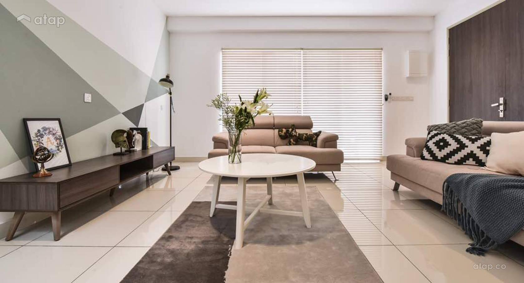 Modern Scandinavian Living Room @ Semenyih Residence